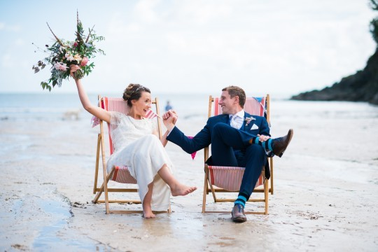 Festival wedding in Salcombe | Vix & Joey