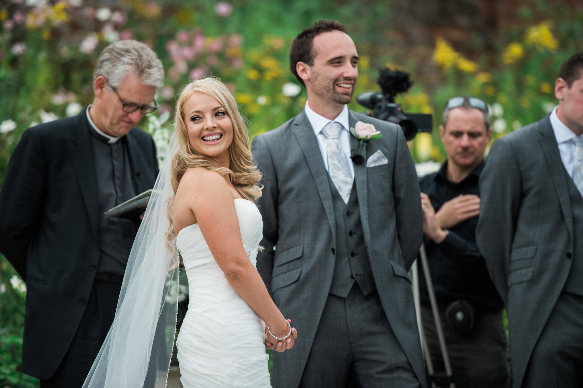 outdoor wedding ceremony somerset