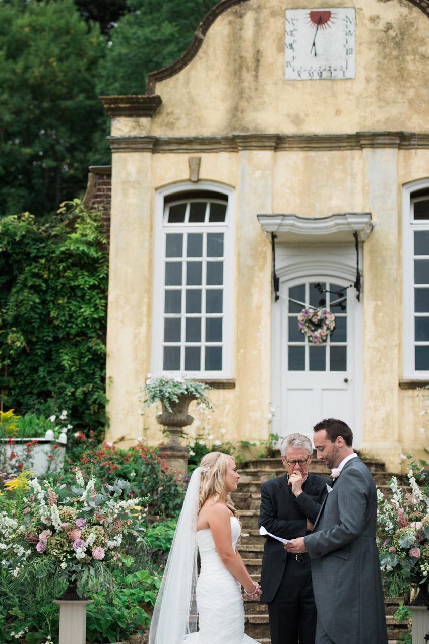 outdoor wedding ceremony photography