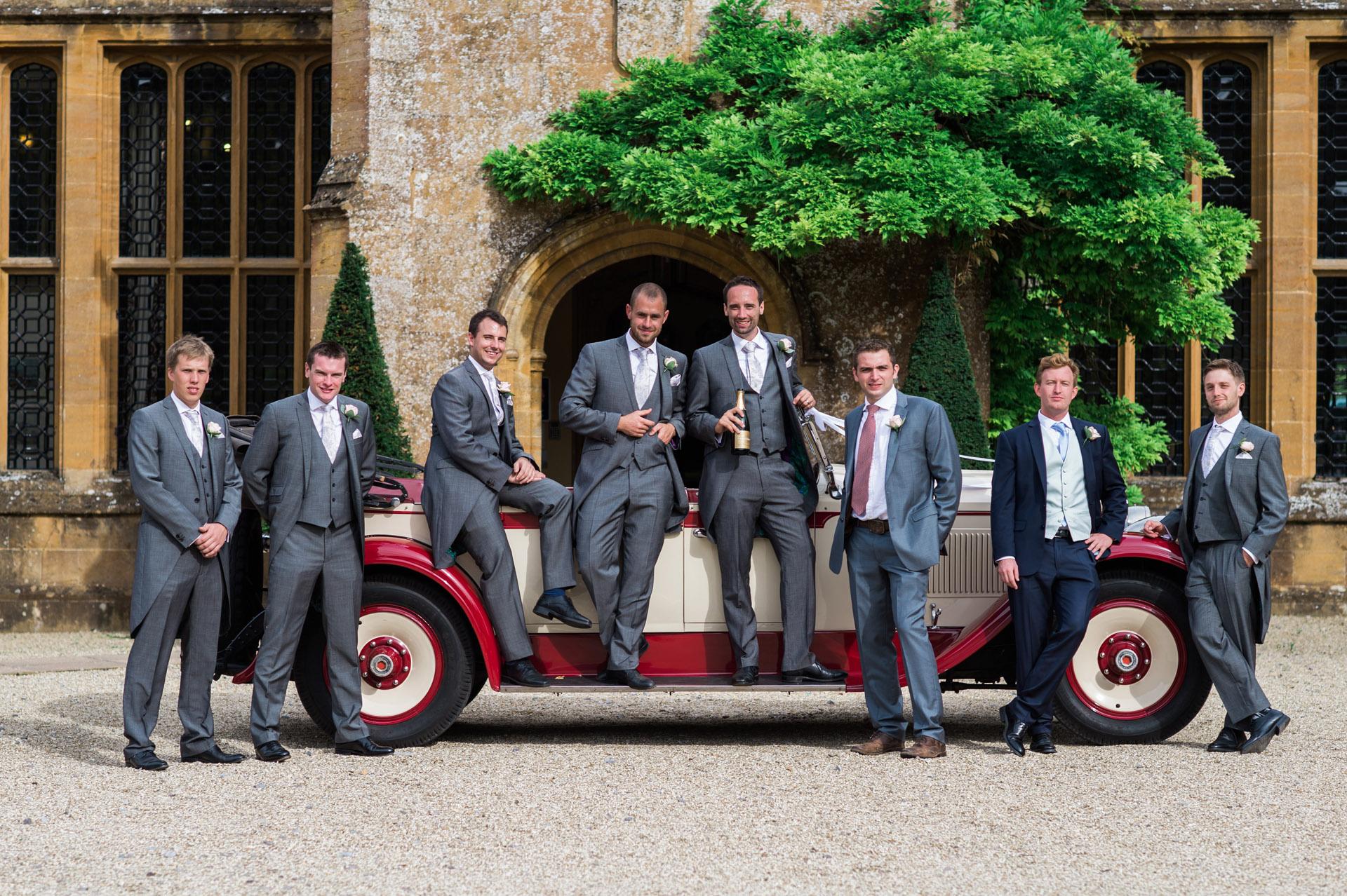 Groomsmen Dillington House Wedding