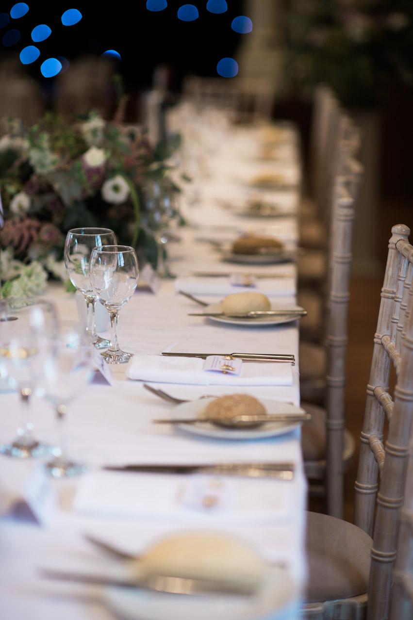 Dillington House Wedding tables
