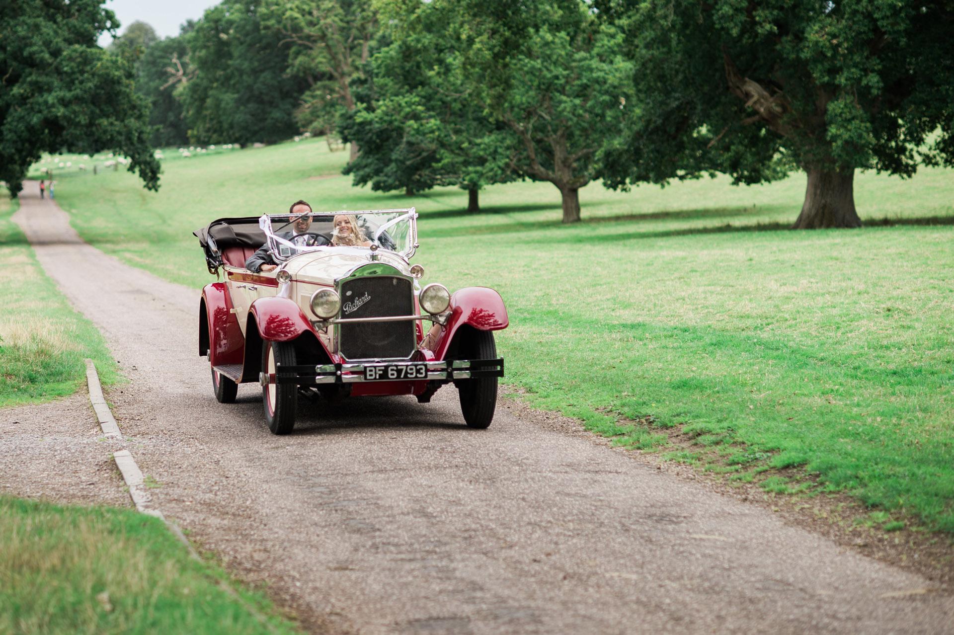 Dillington House Wedding car
