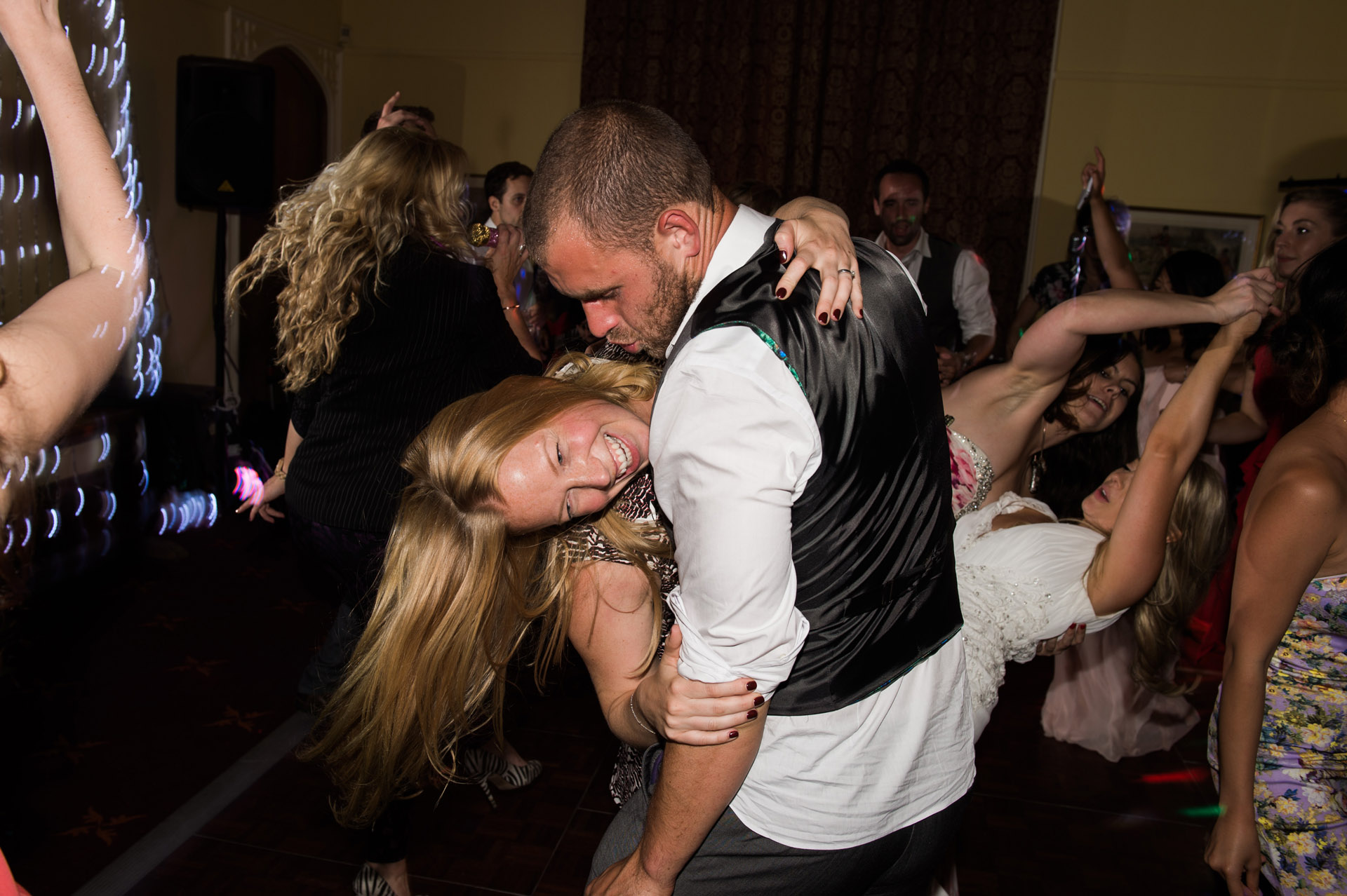 Dancing at Dillington House wedding