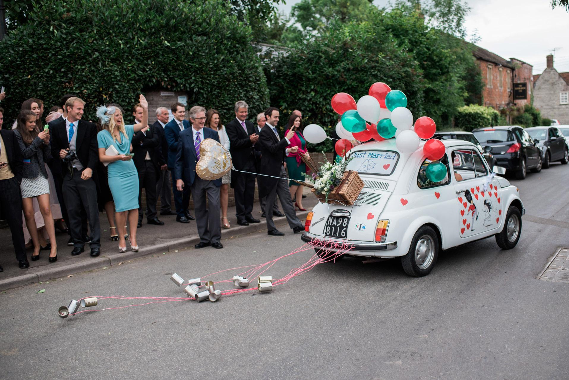 Getaway car wedding