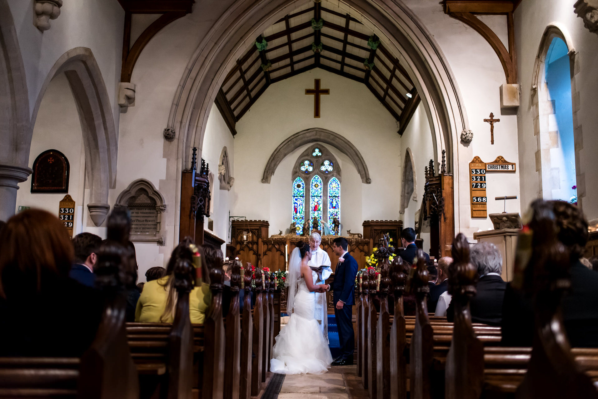 Isle of Wight church wedding ceremony
