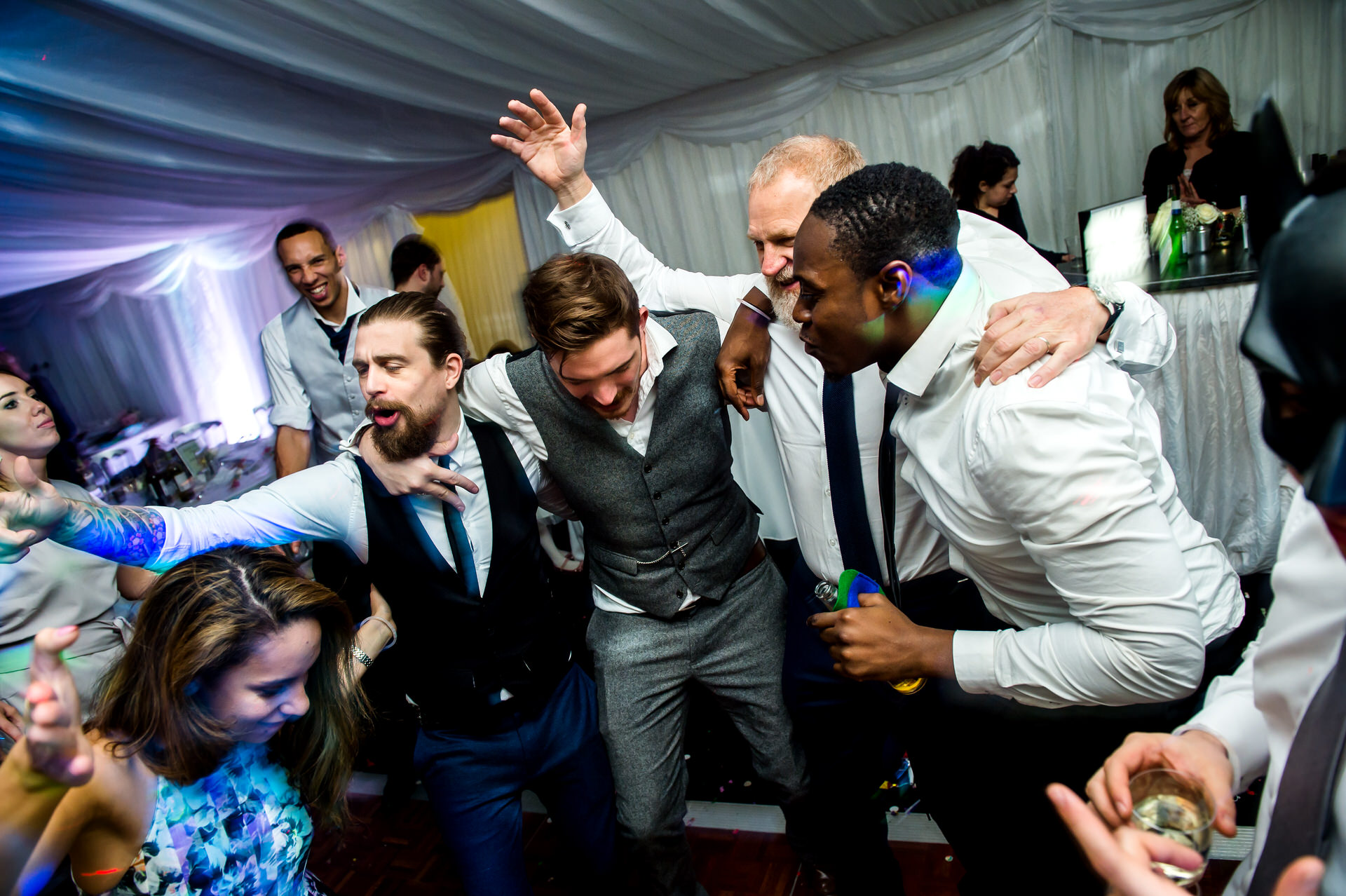 crazy wedding party photography