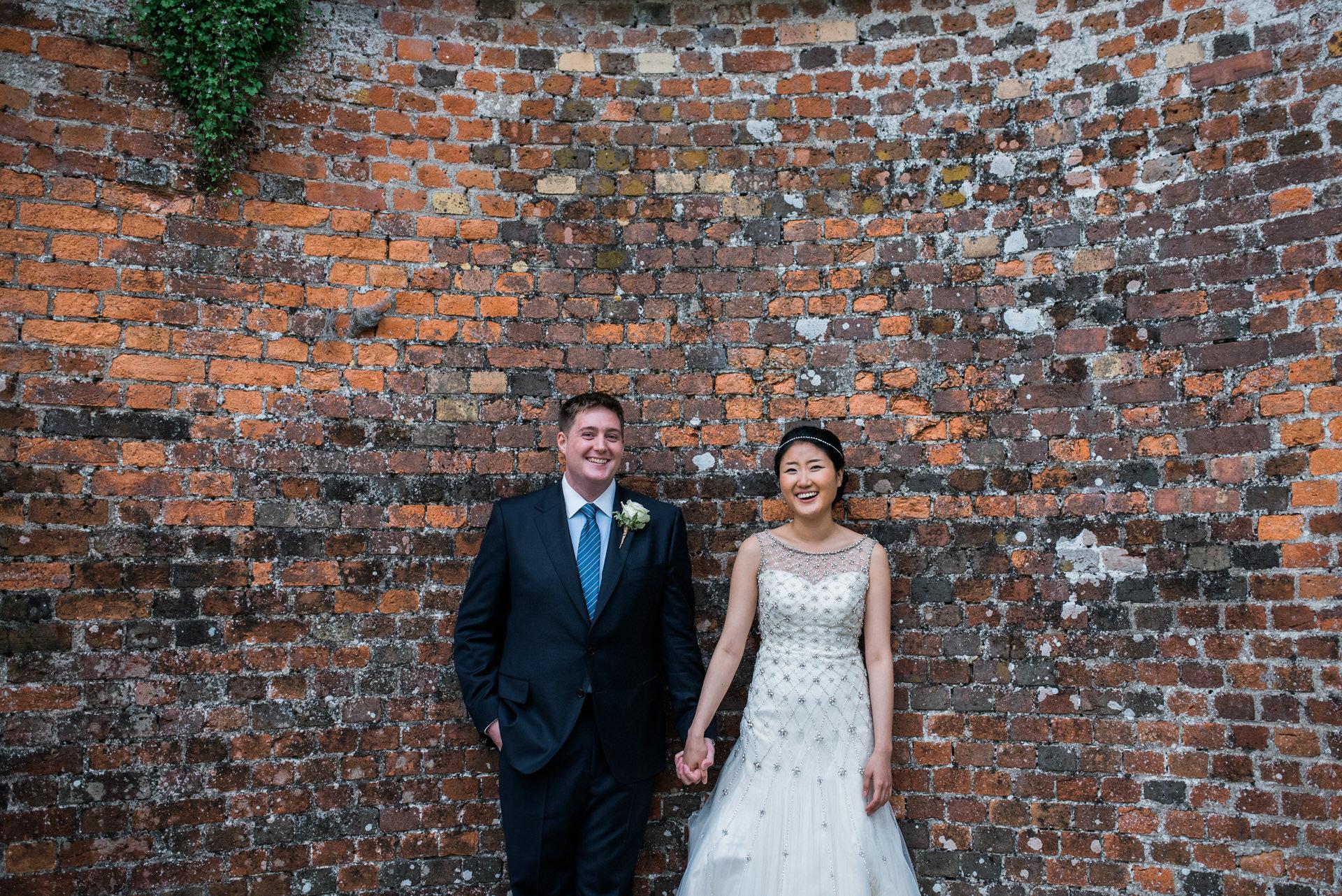 newlyweds Charlton House wedding photography