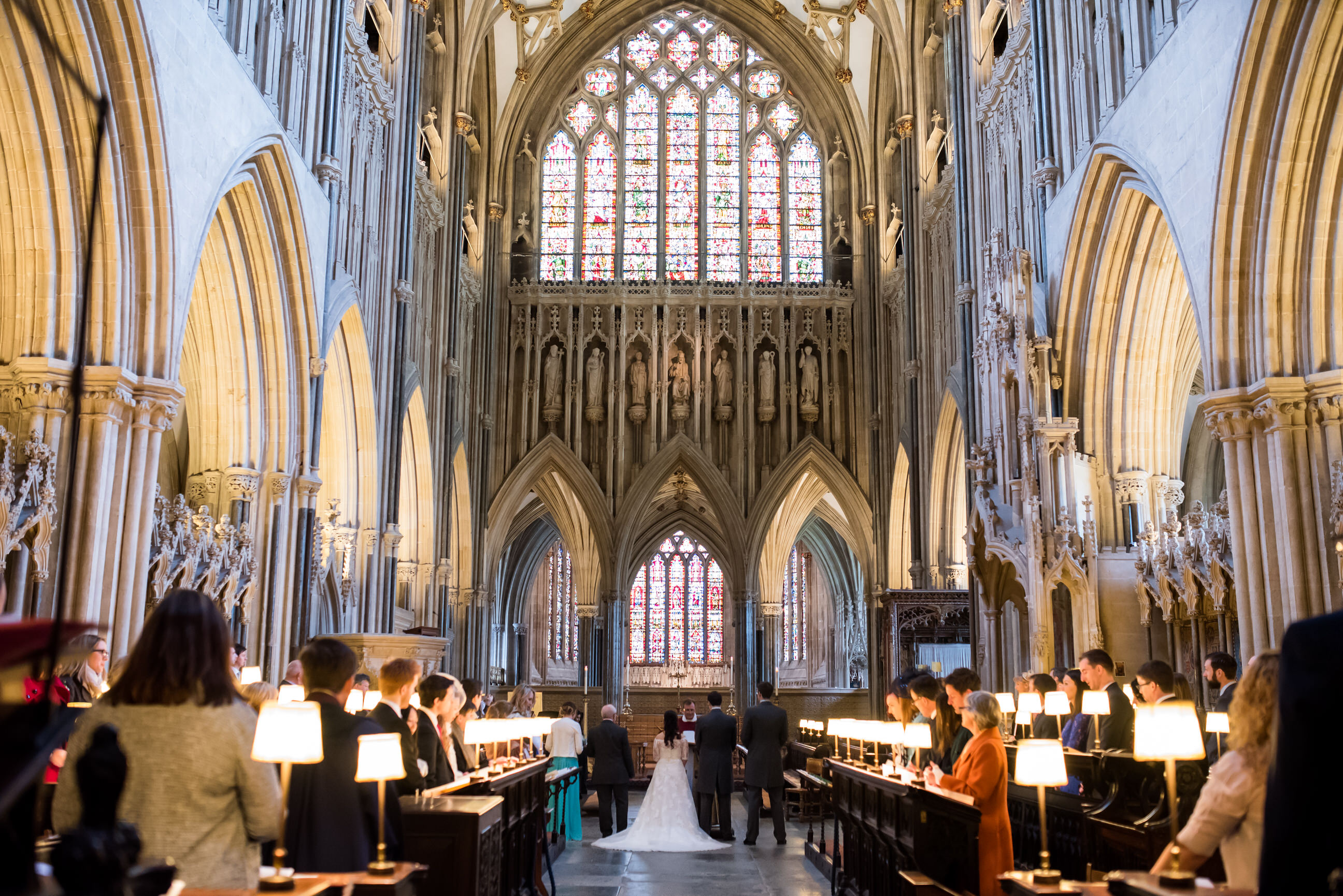 Wells Cathedral wedding photography