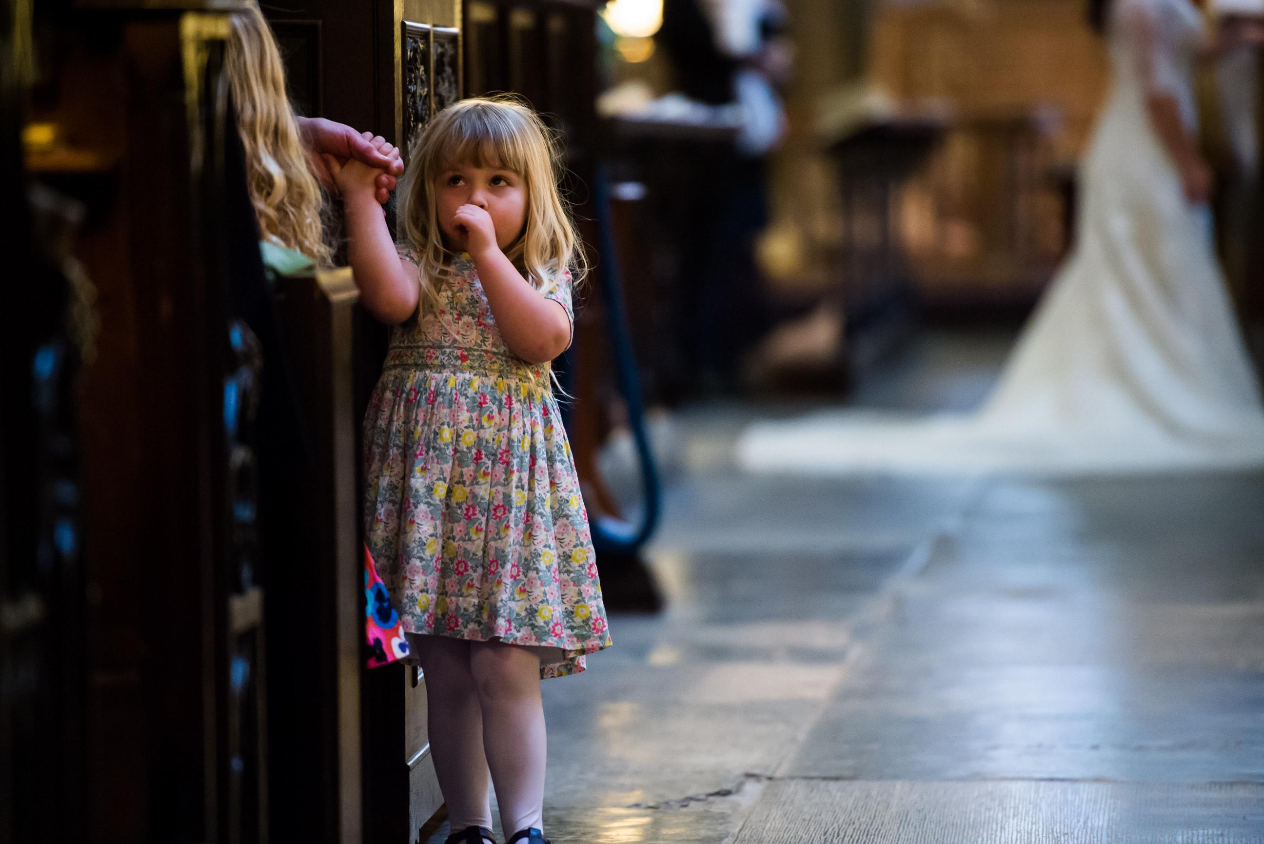 Girl watches wedding