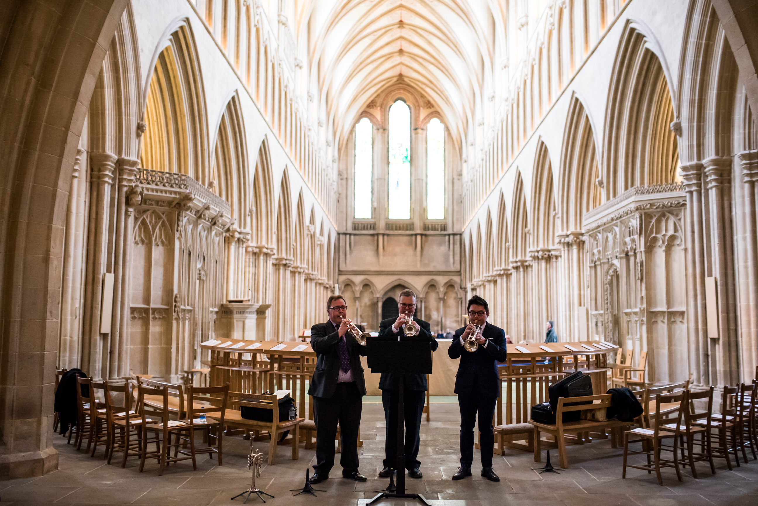 Wells Cathedral wedding ceremony