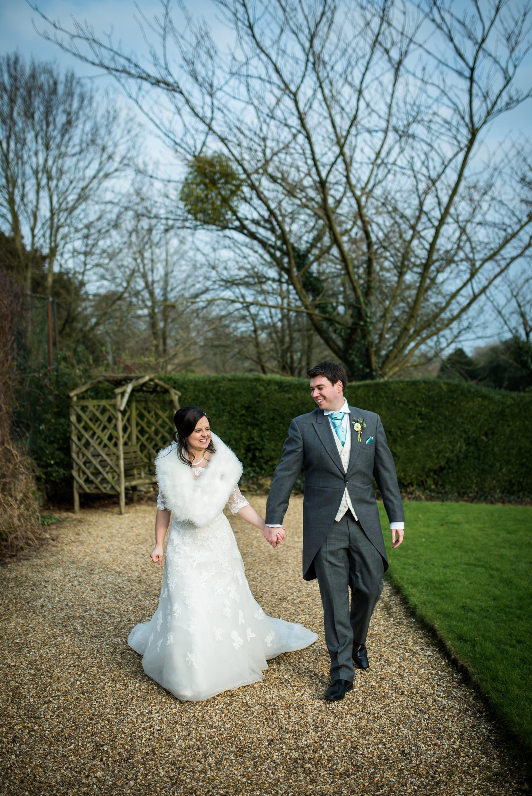 Bride and groom at Pennard House