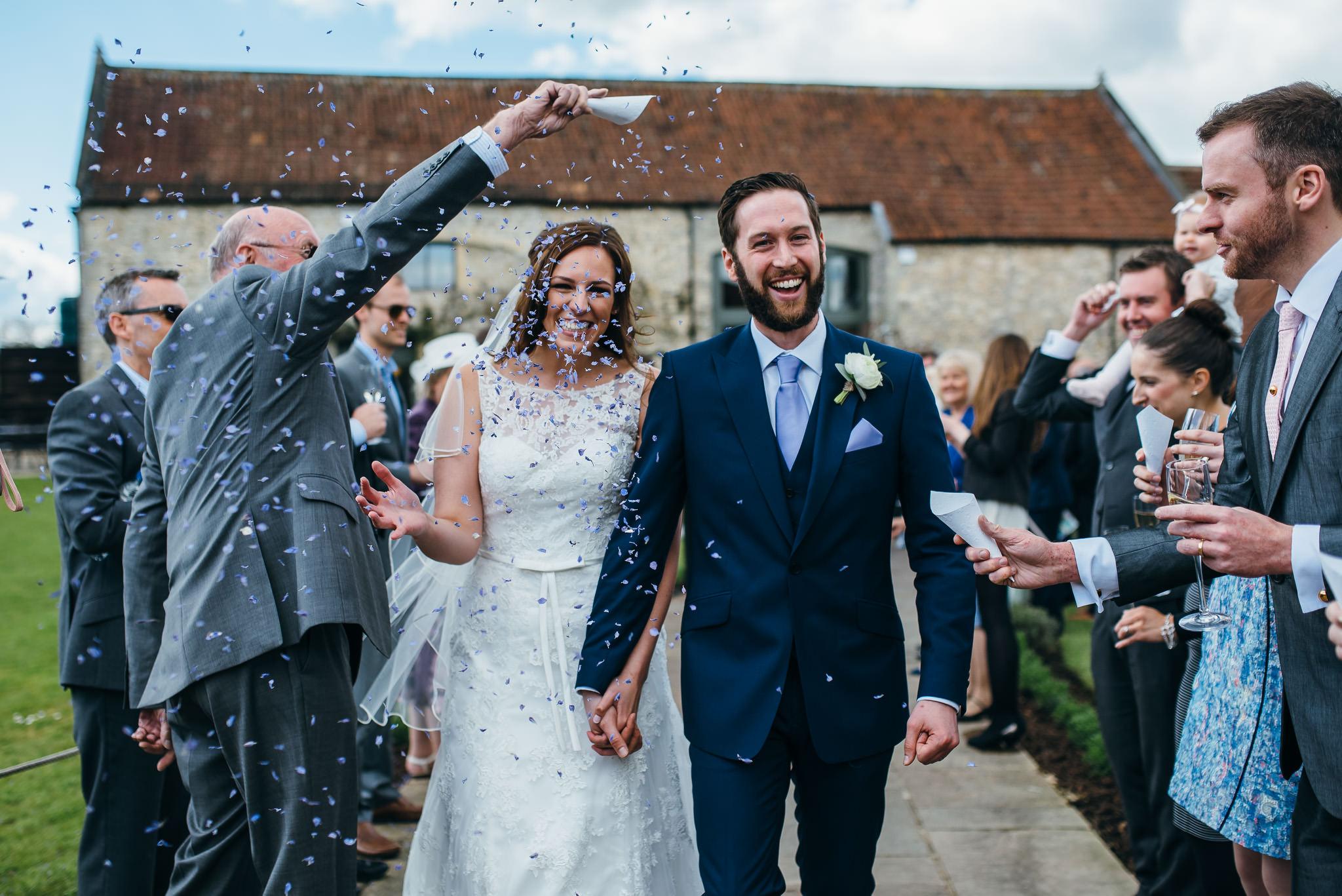 Priston Mill Wedding confetti