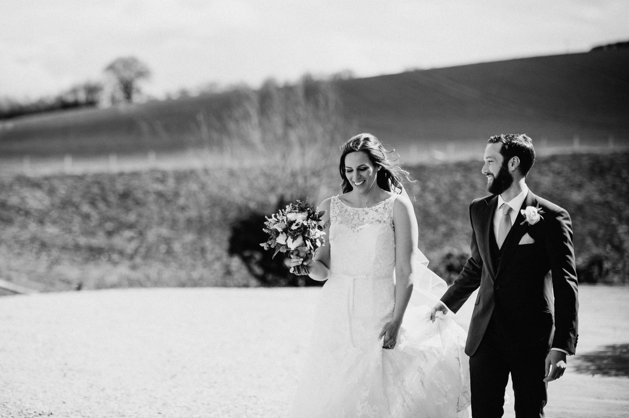 Bride and Groom Priston Mill Wedding