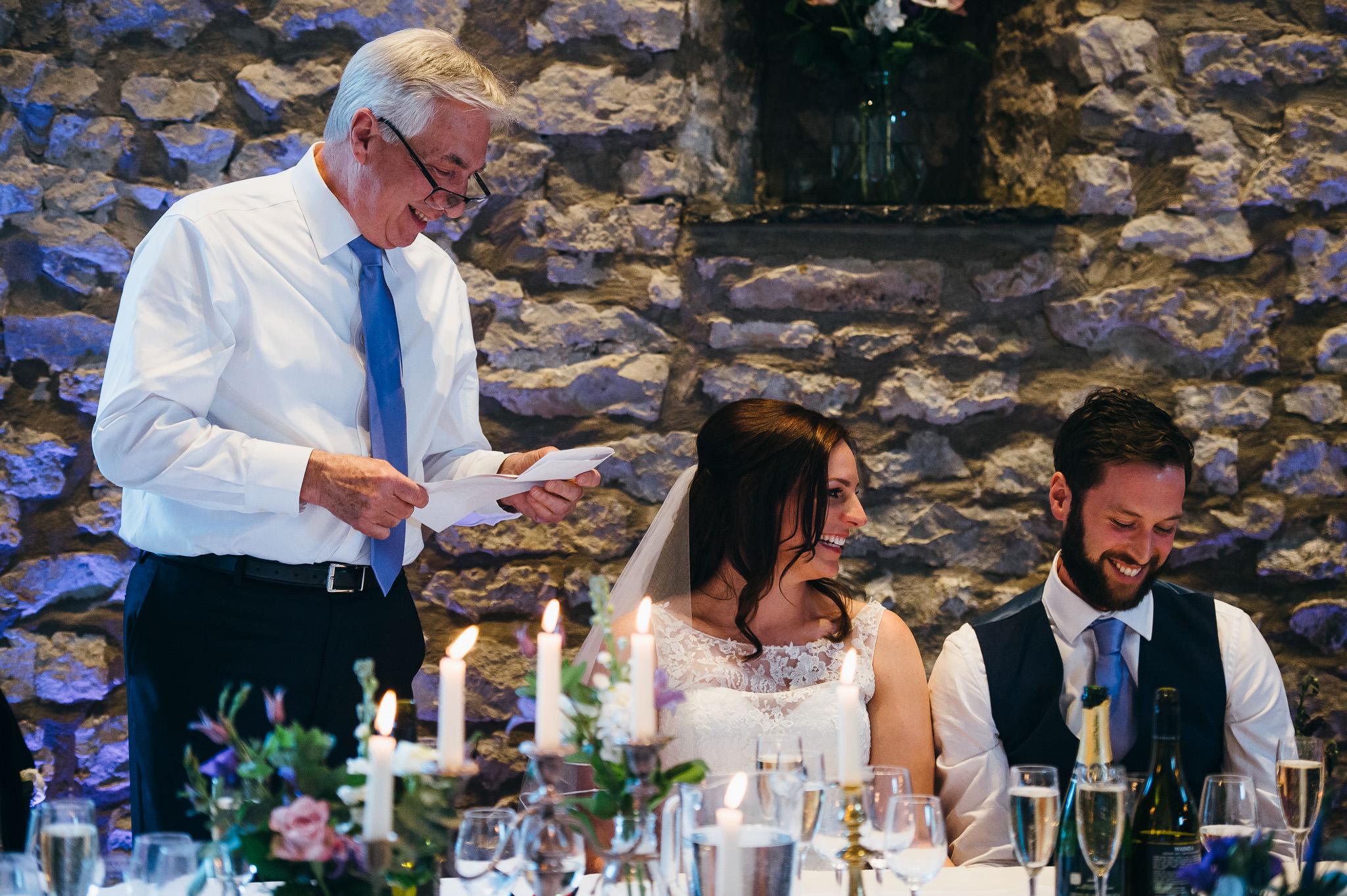 wedding speeches Priston Mill