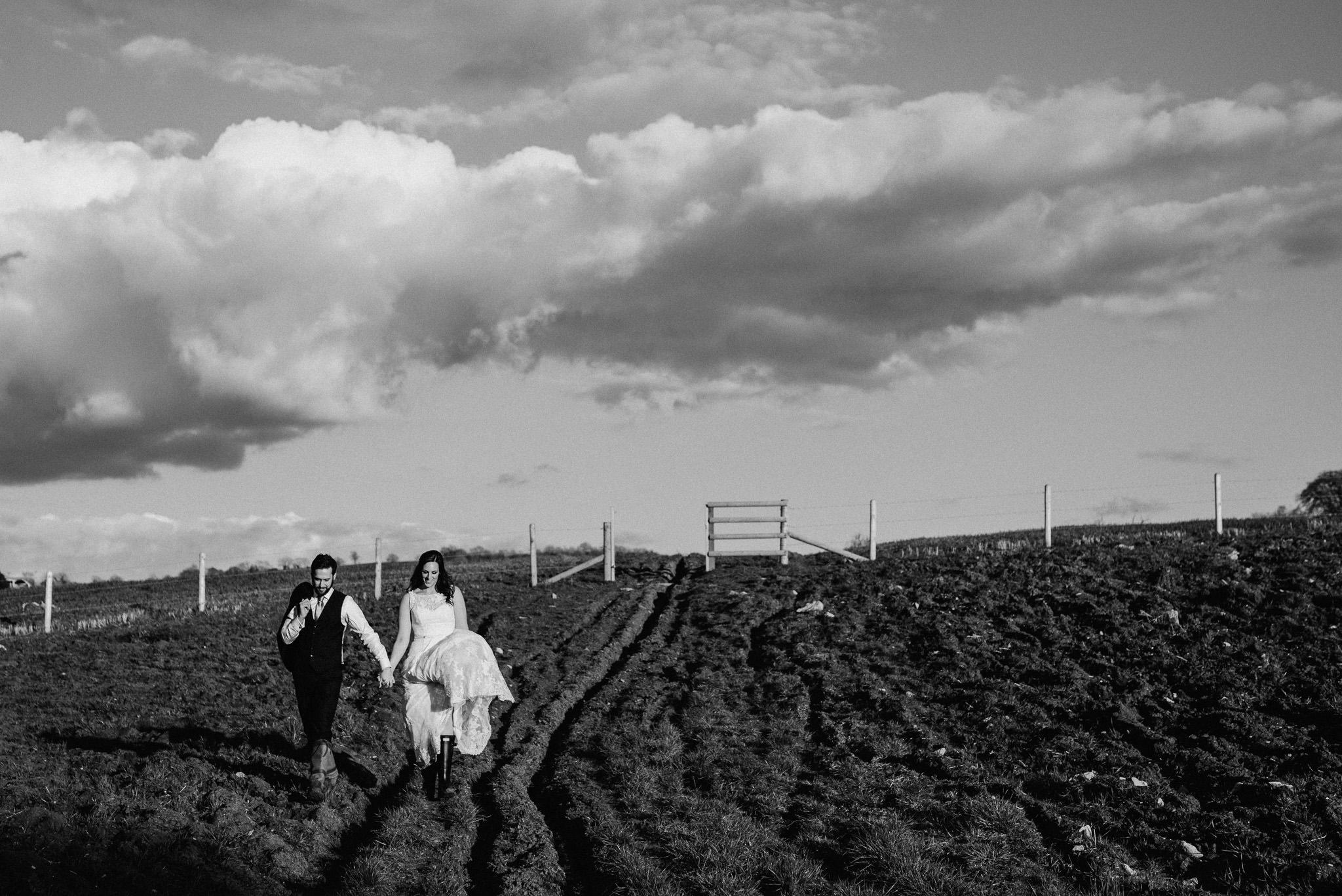 wedding couple Priston Mill