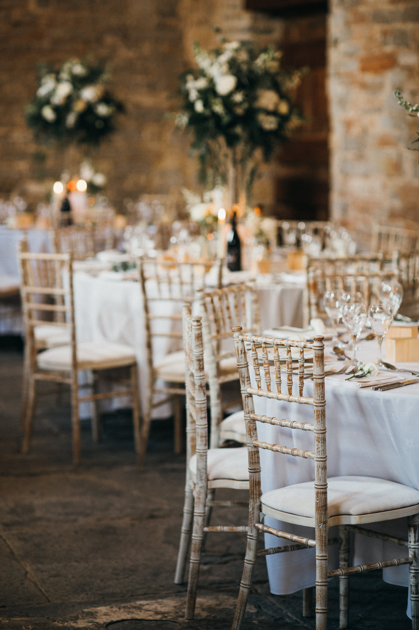 wedding breakfast details at Almonry Barn, Somerset