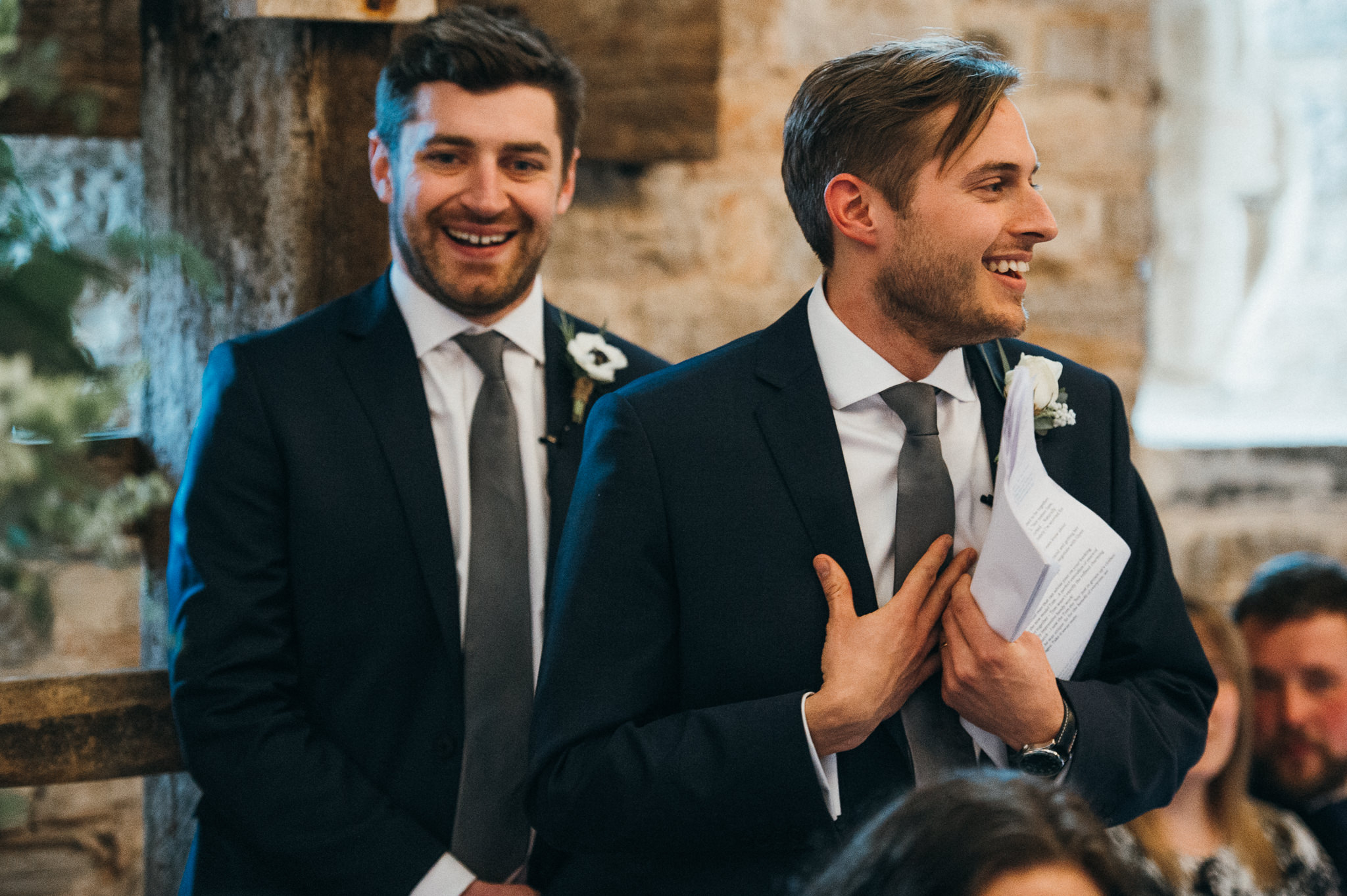 best men speech at wedding at the almonry barn