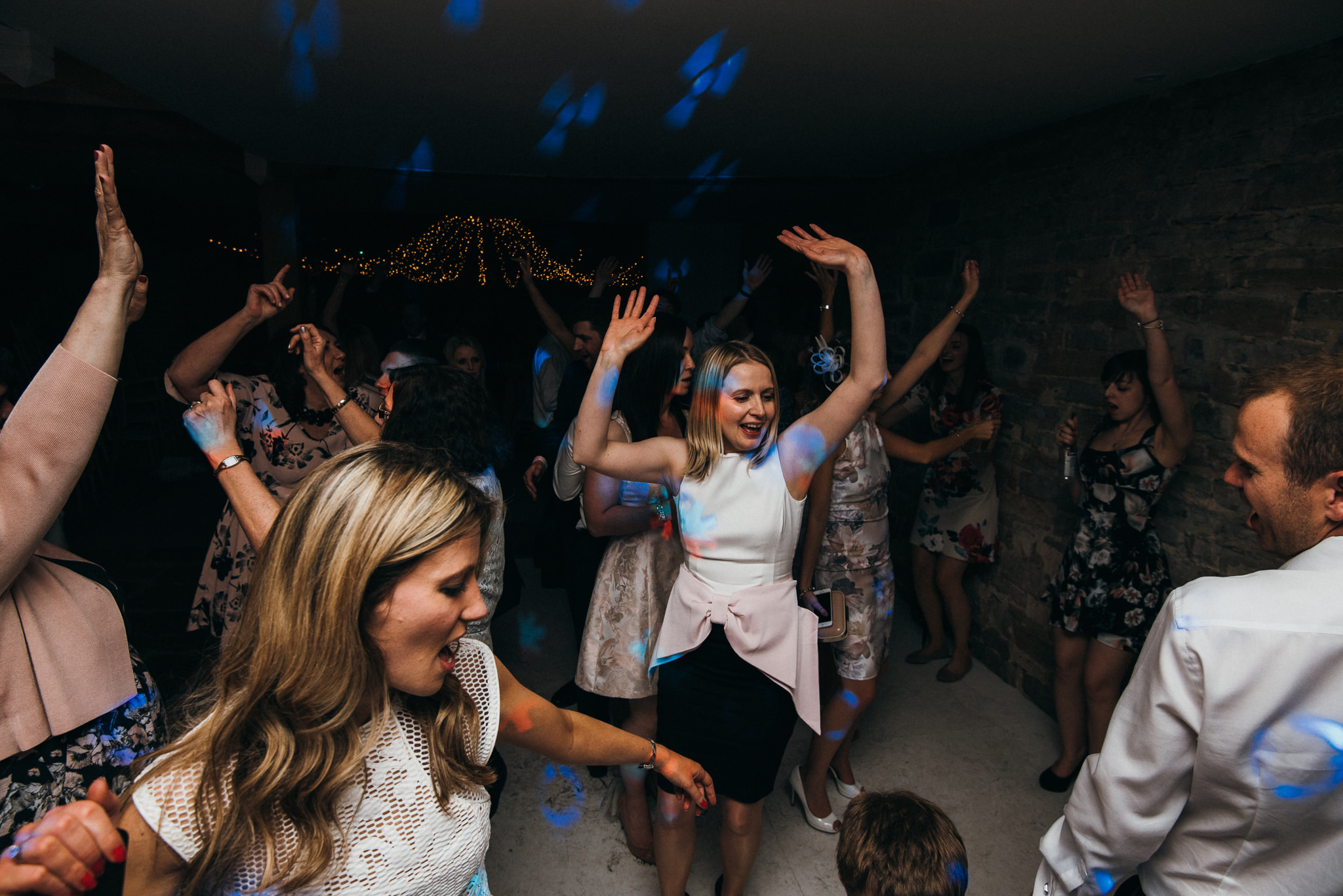 dance floor fun Almonry barn wedding