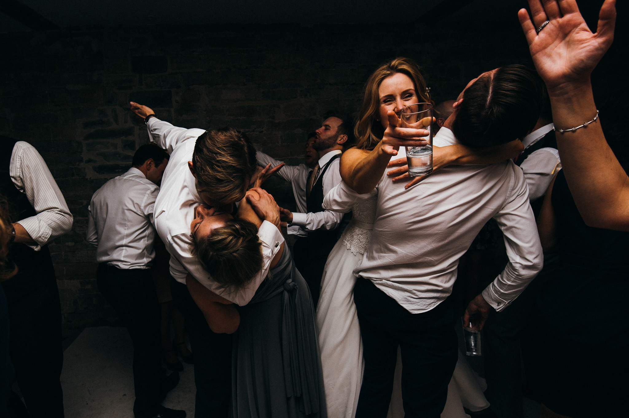 lots of dance floor action at Almonry barn wedding