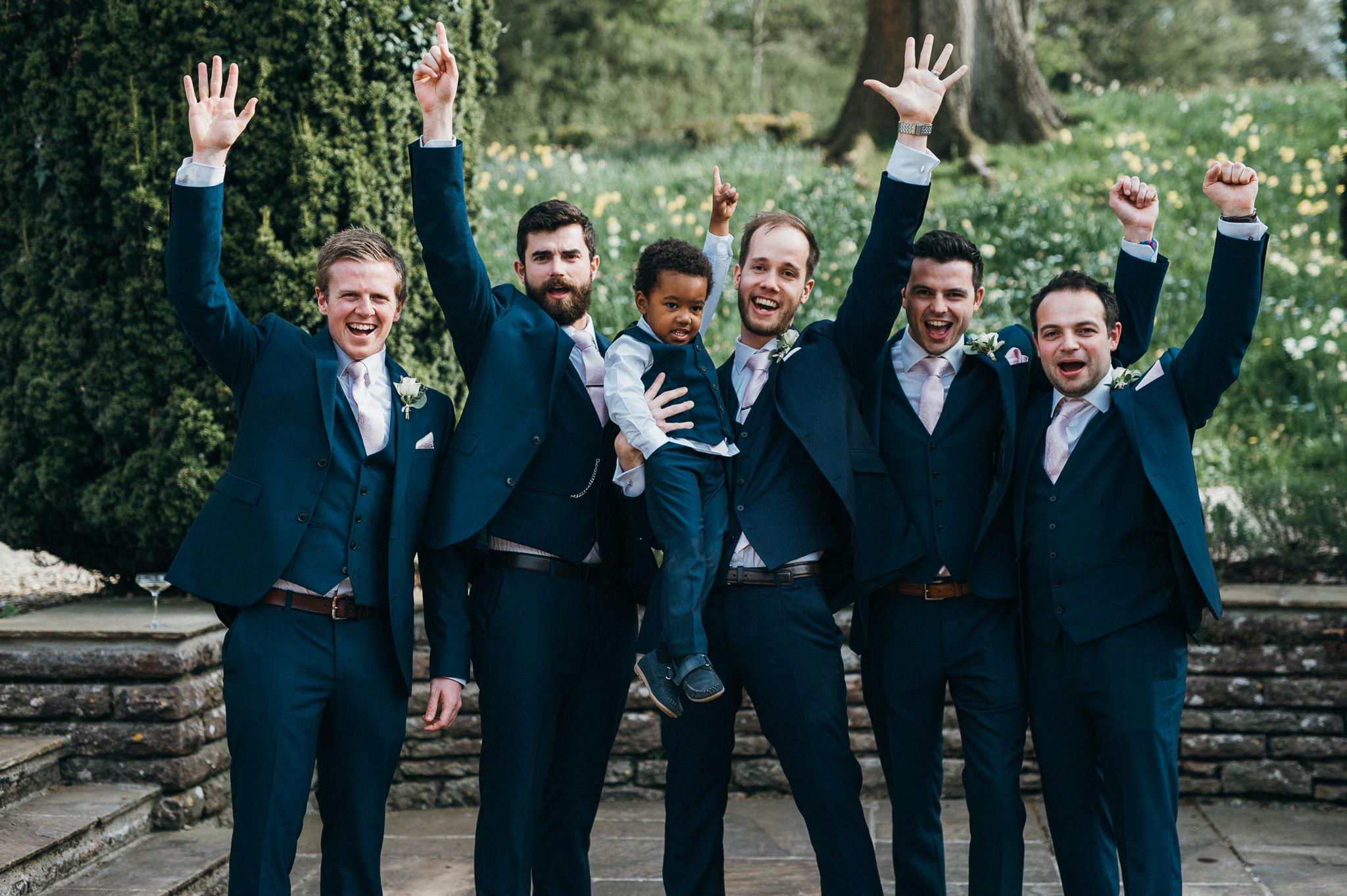groomsmen Coombe Lodge Blagdon