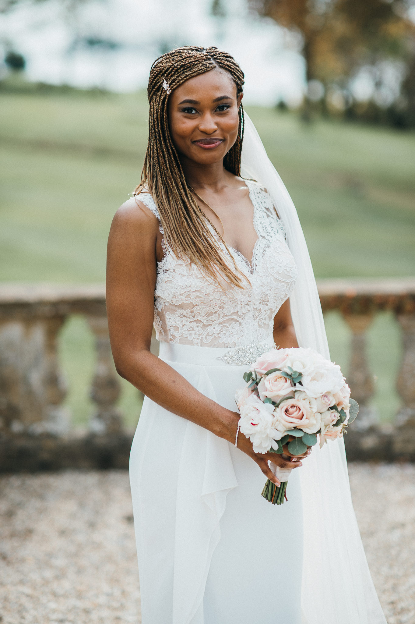 bride at Coombe Lodge Blagdon