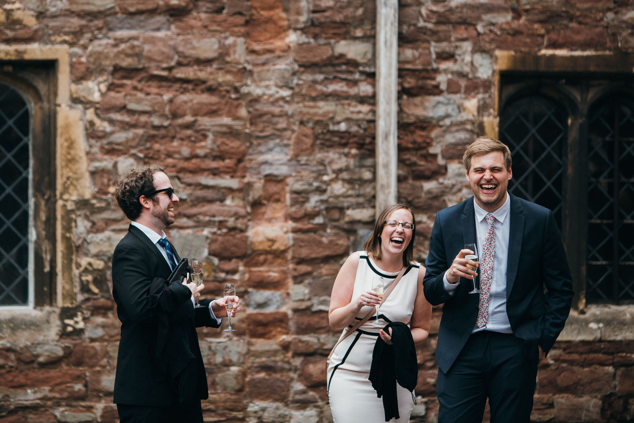 Berkeley Castle wedding guests
