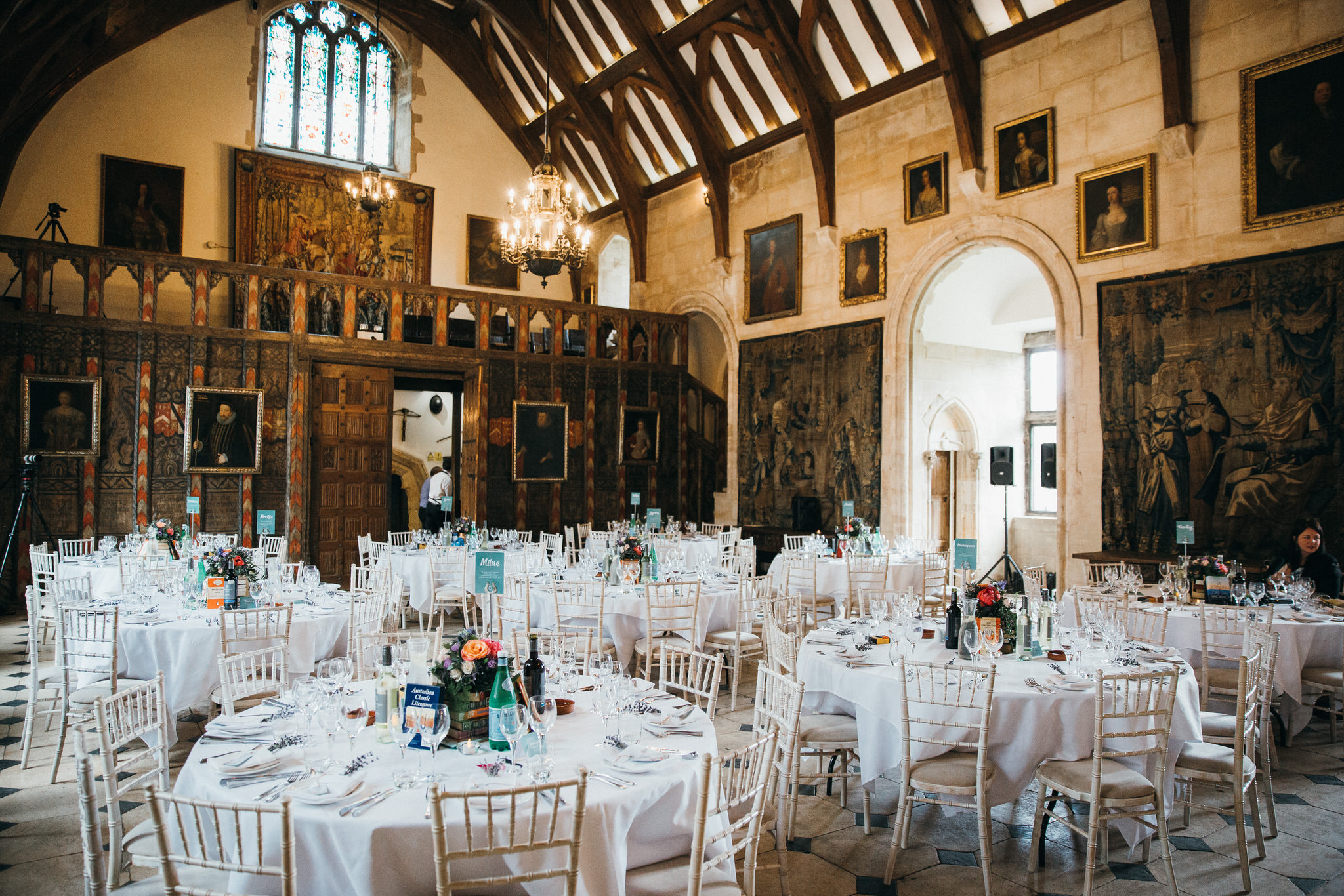 Berkeley Castle wedding breakfast