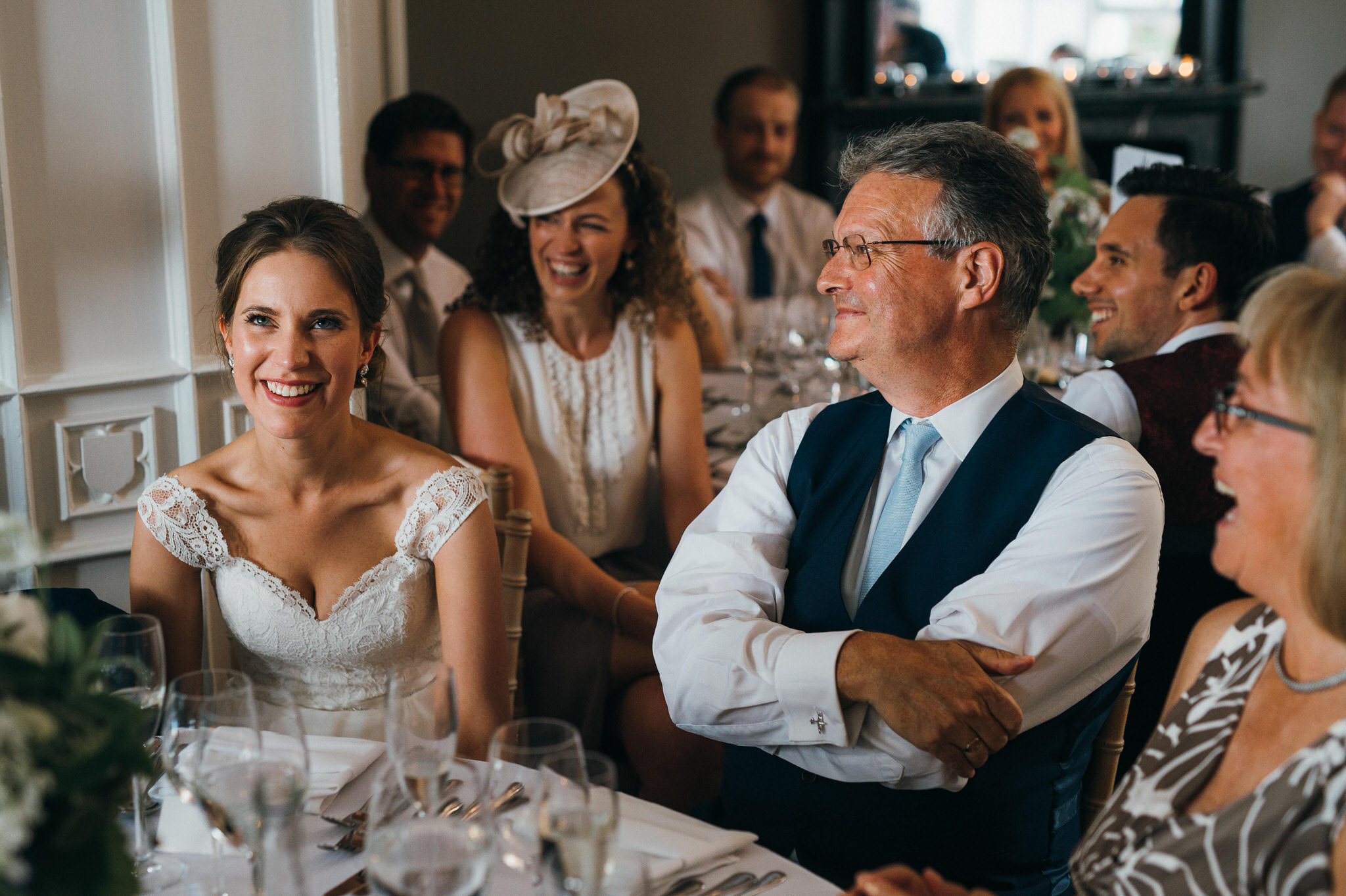 Wedding speech reaction Nonsuch Mansion