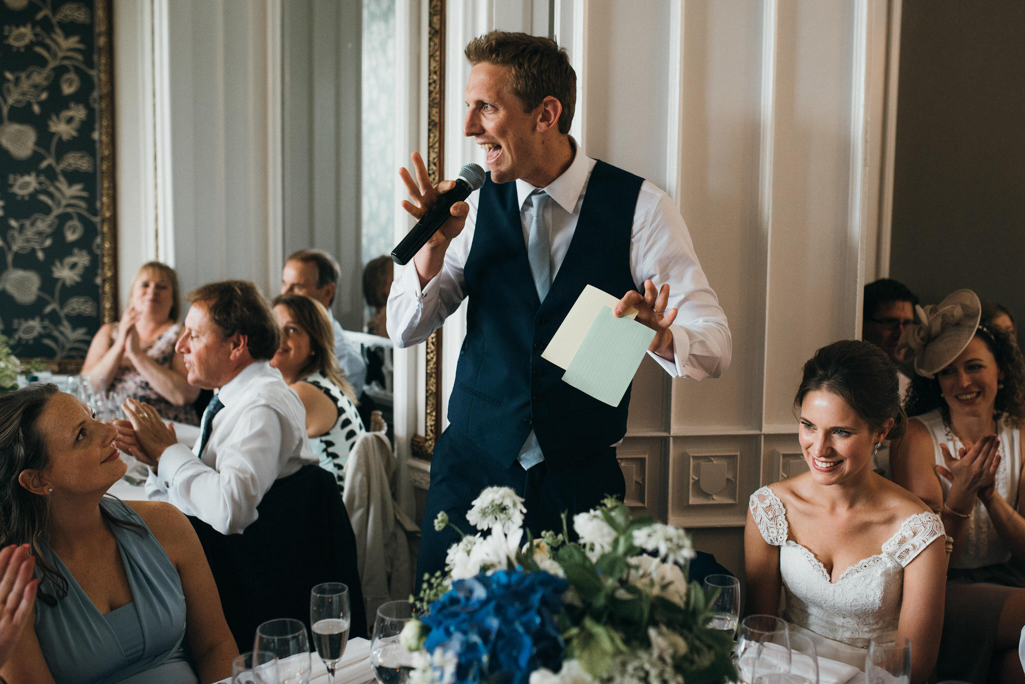 Wedding speeches Nonsuch Mansion