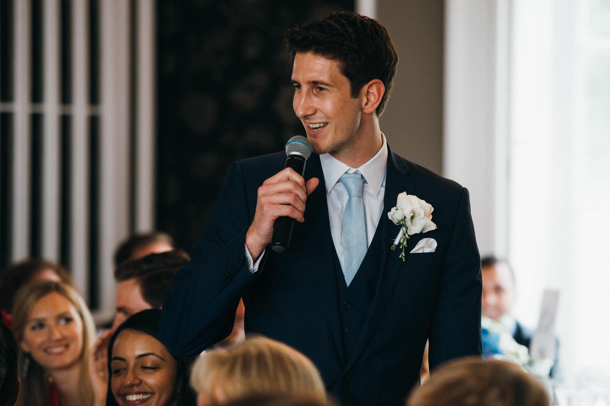 Wedding speech Nonsuch Mansion