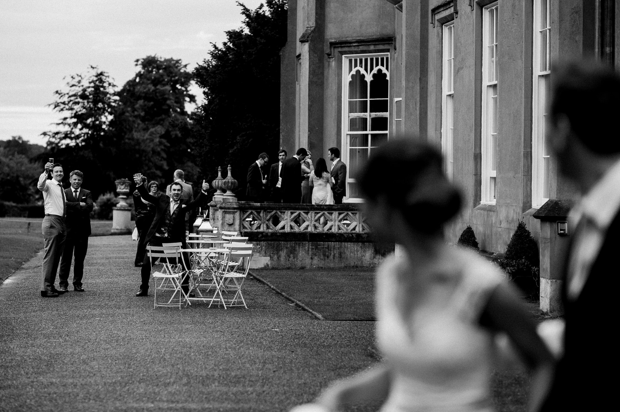 Newlyweds cheered at Nonsuch Mansion