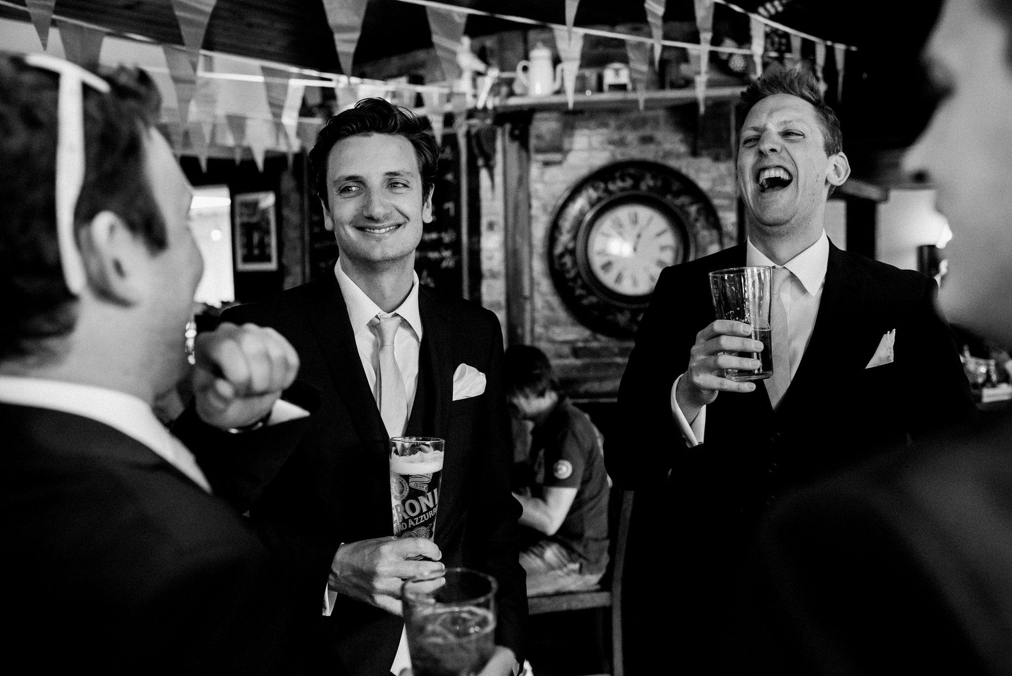 Groomsmen pre wedding drinks