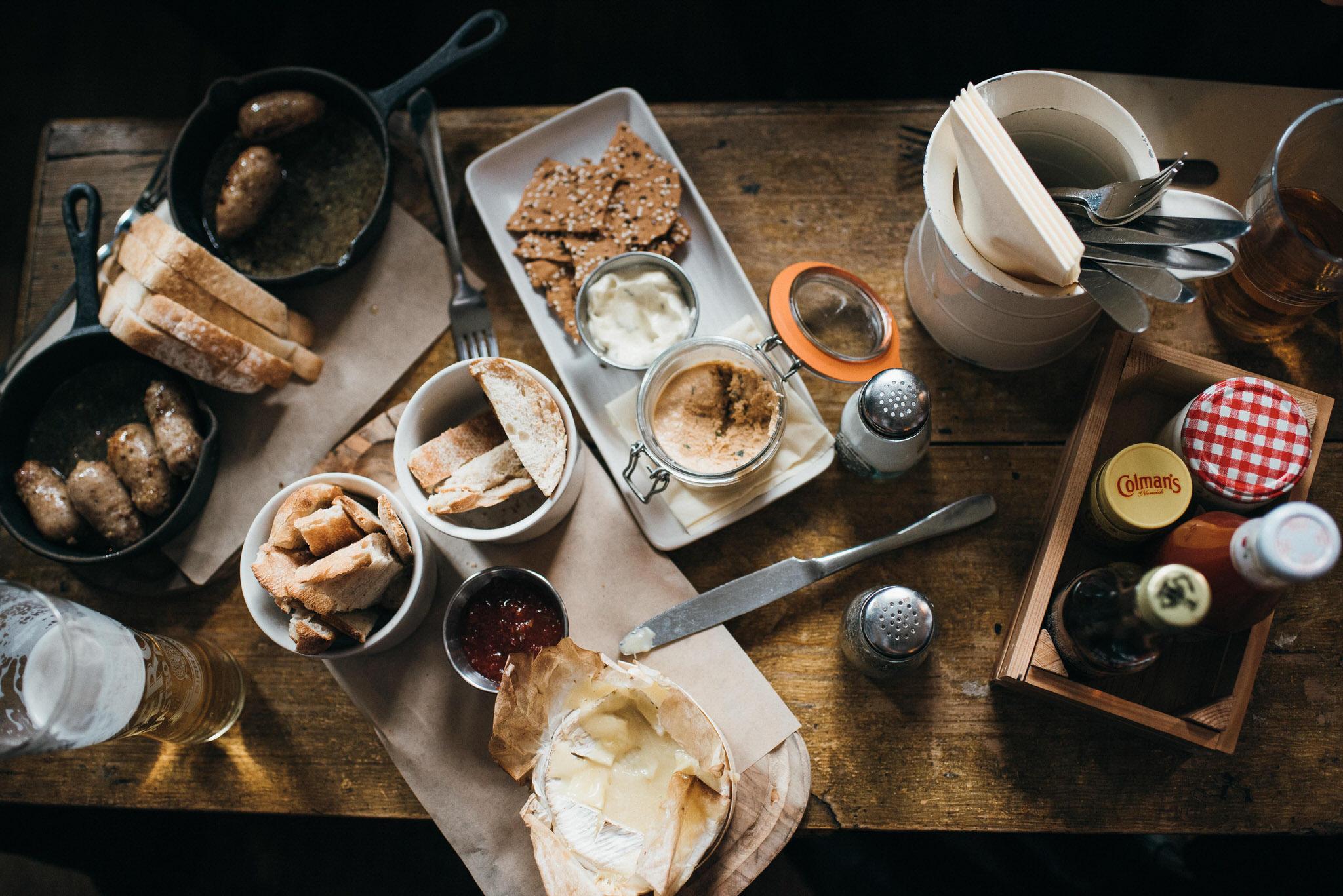 Tasty platter at The Crooked Billet