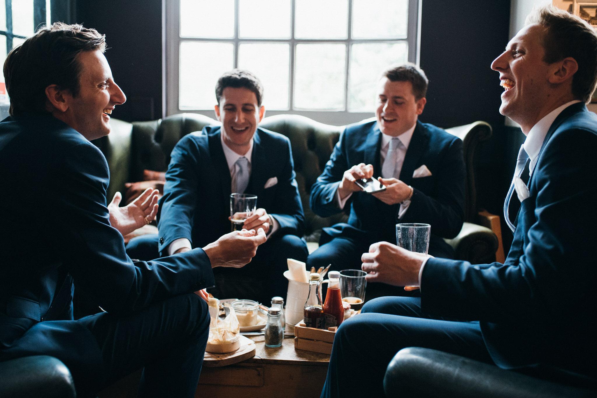 Ushers before wedding