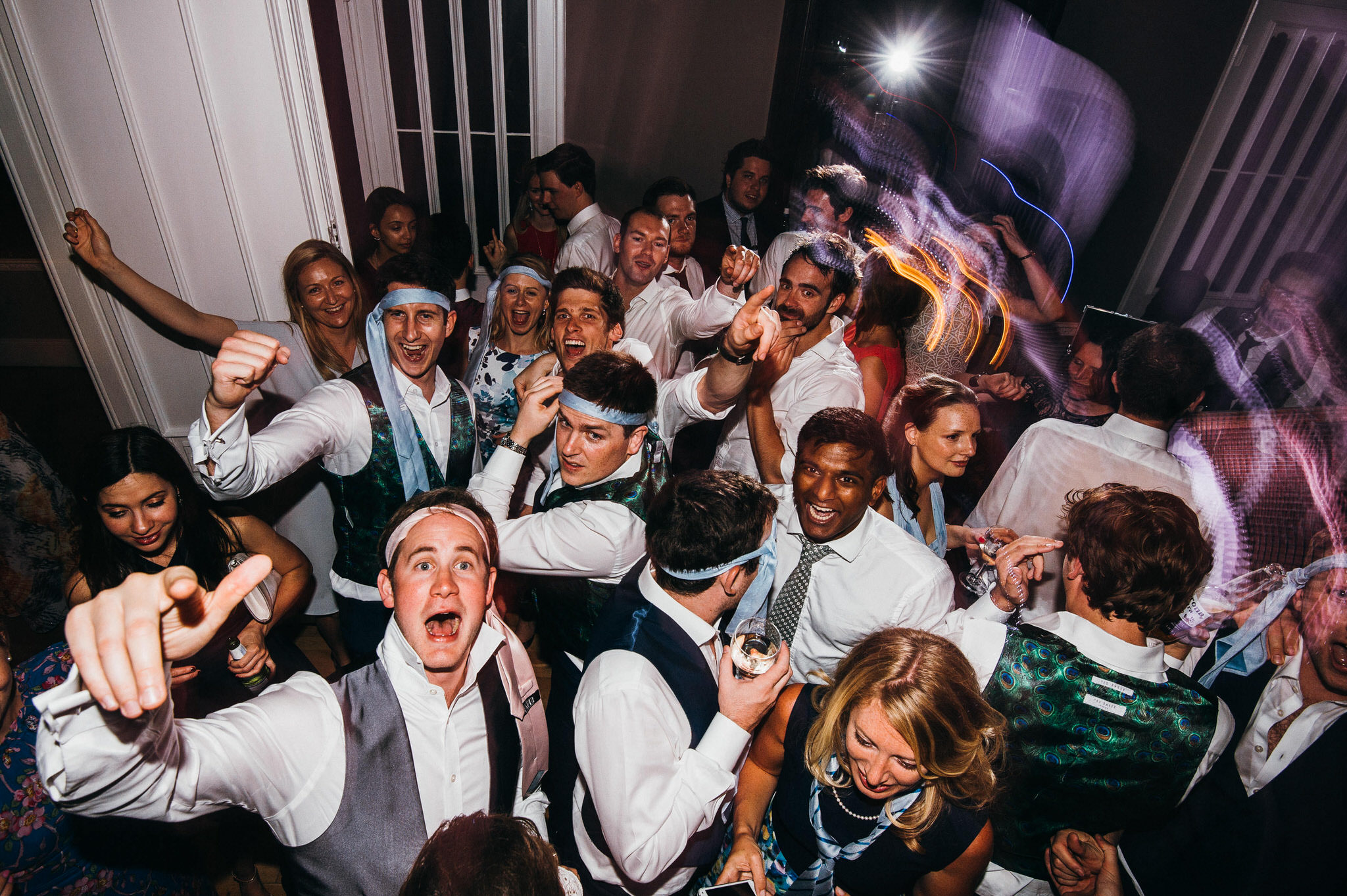 Dancing at Nonsuch mansion wedding