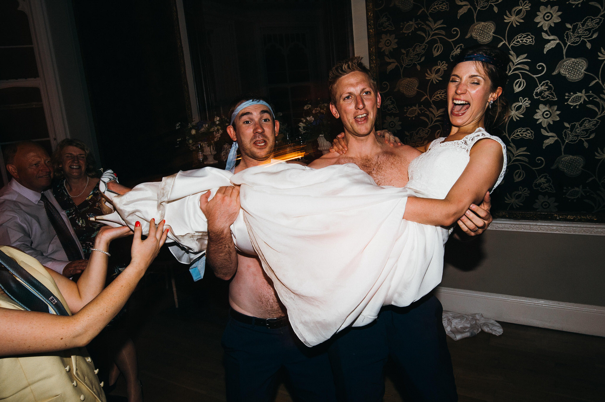 Fun at wedding party