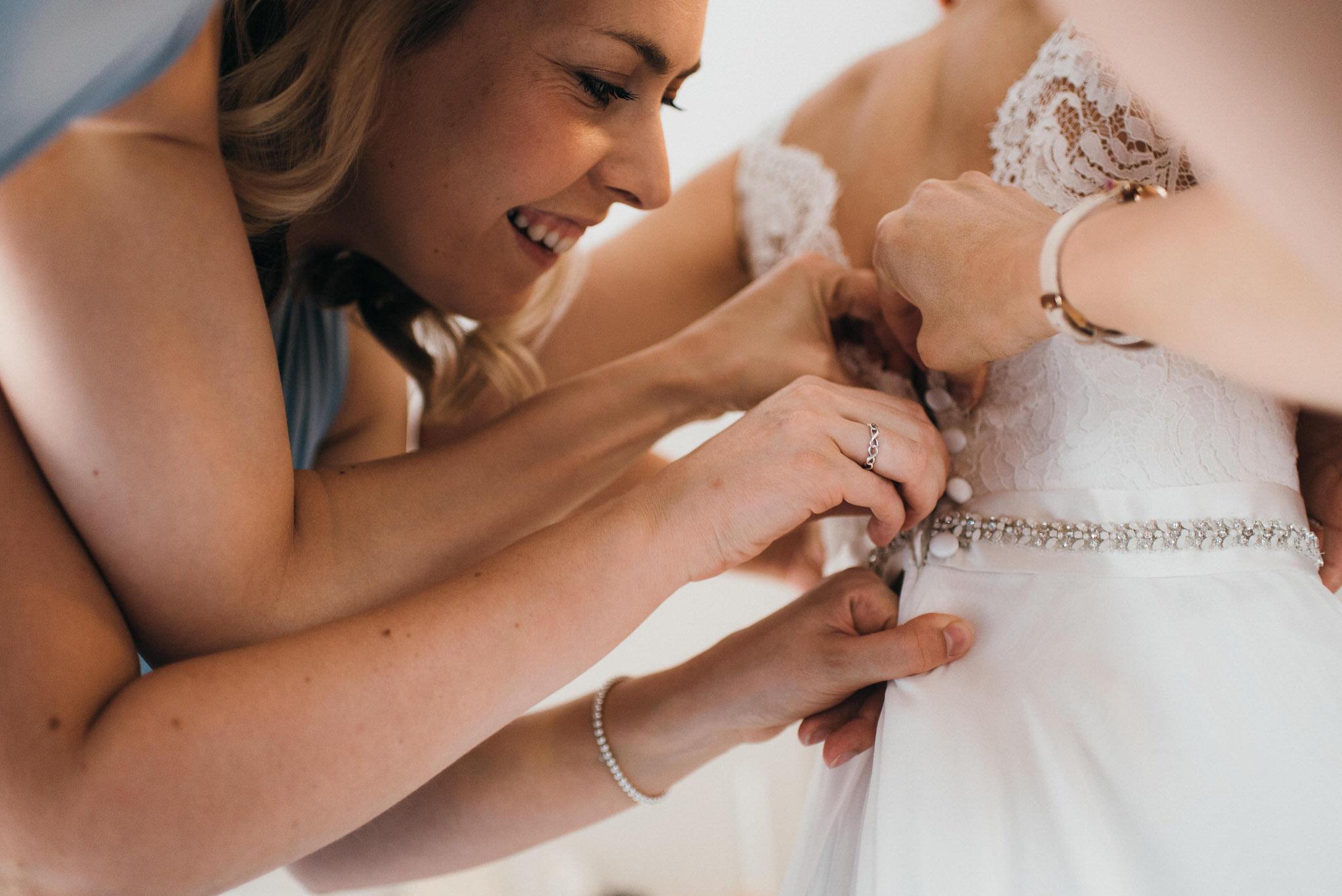 Shanna Melville wedding dress buttons