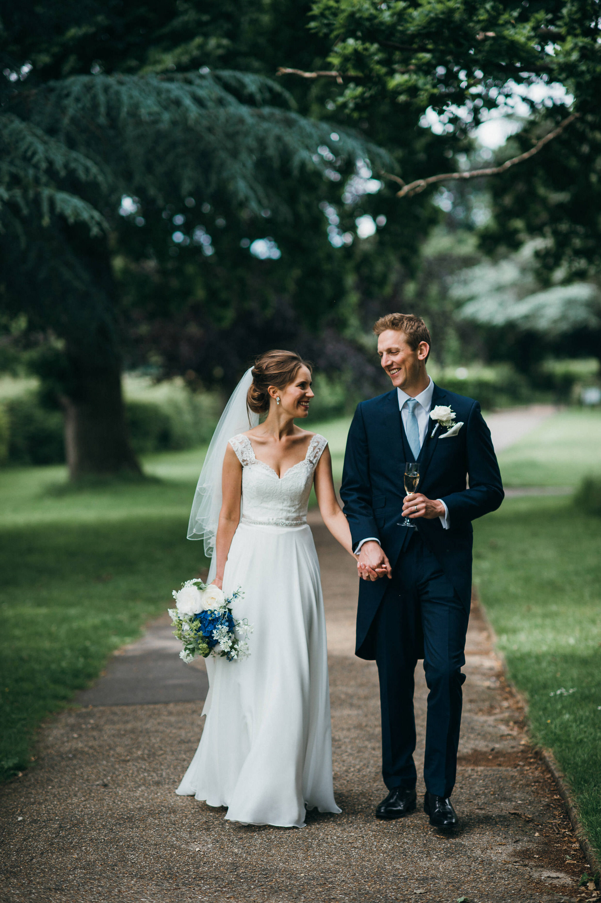 Wedding couple at nonsuch mansion