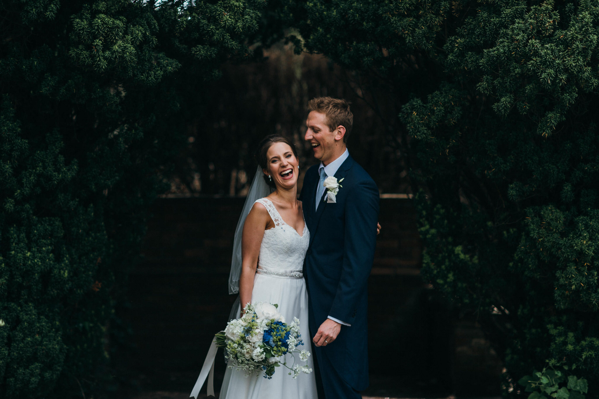 Bride and groom at nonsuch mansion