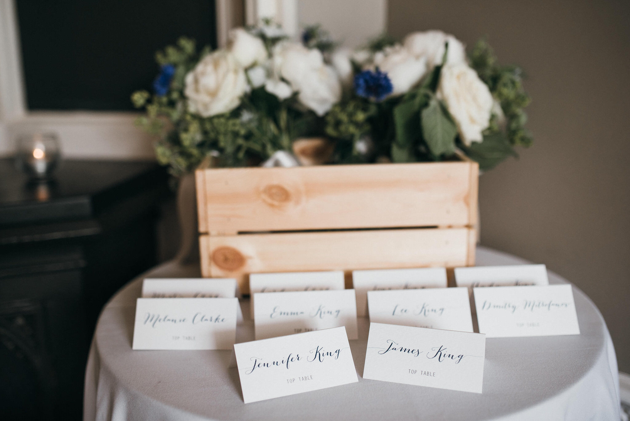 wedding details at Nonsuch