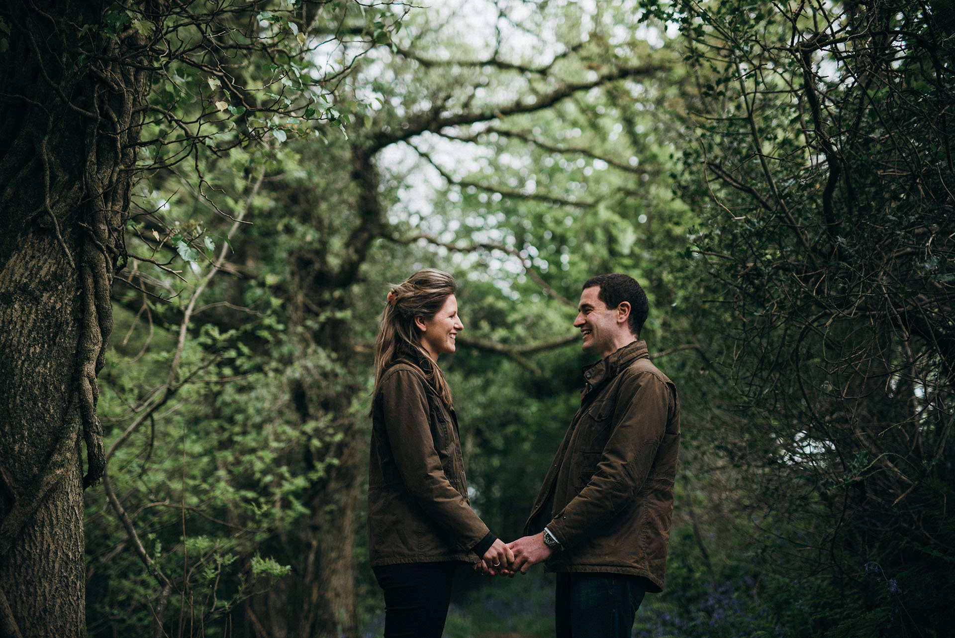 Couple in the woods - Engagement Photographs