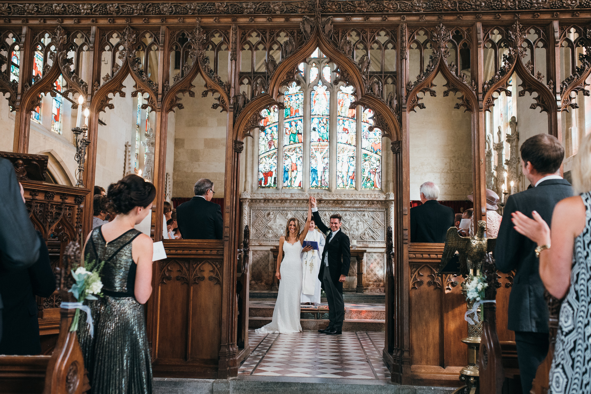 Sudeley castle church wedding photography