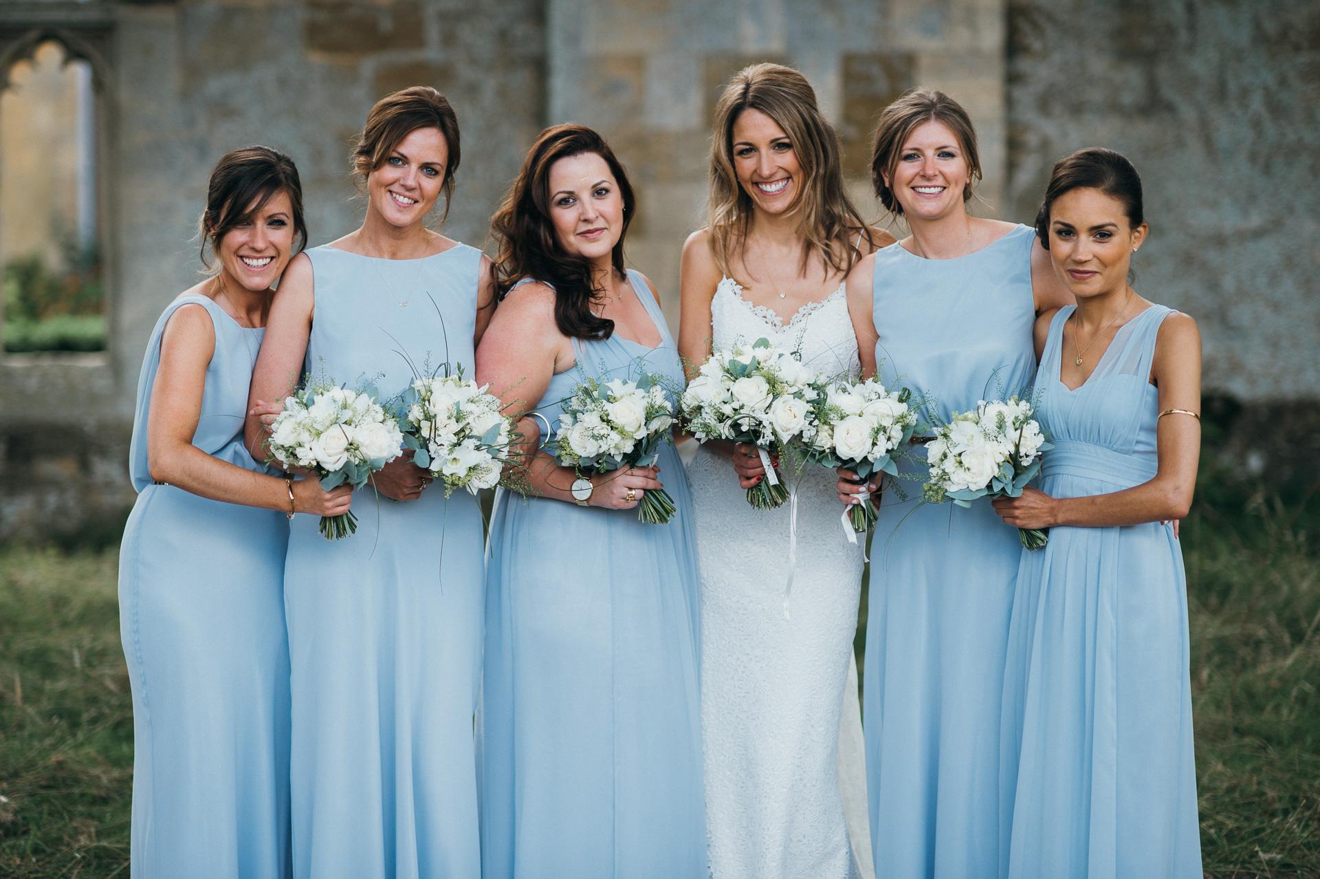 Bride squad Sudeley castle wedding