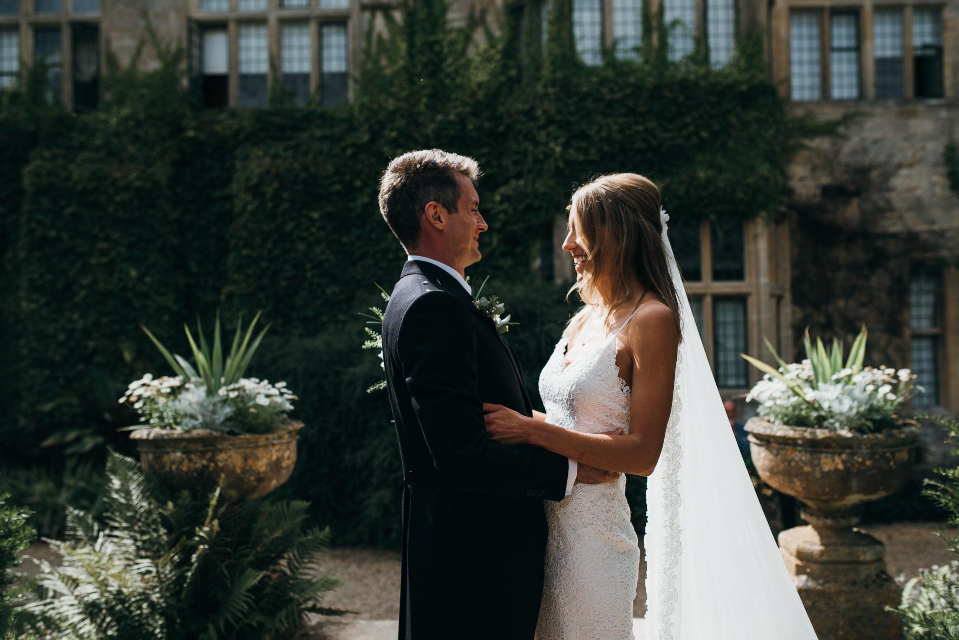 Bride and Groom Sudeley castle wedding photographer