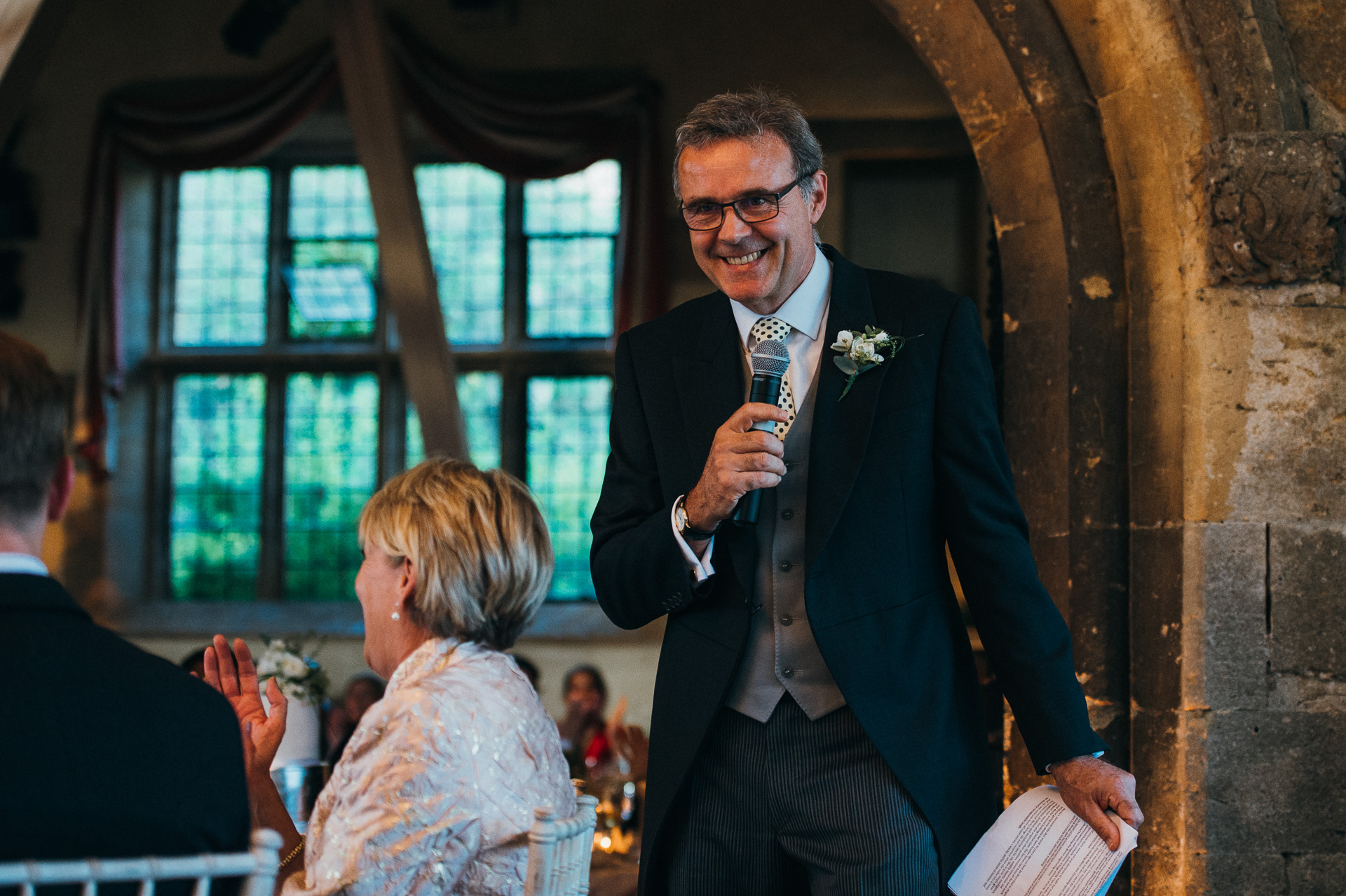 Speeches Sudeley castle wedding