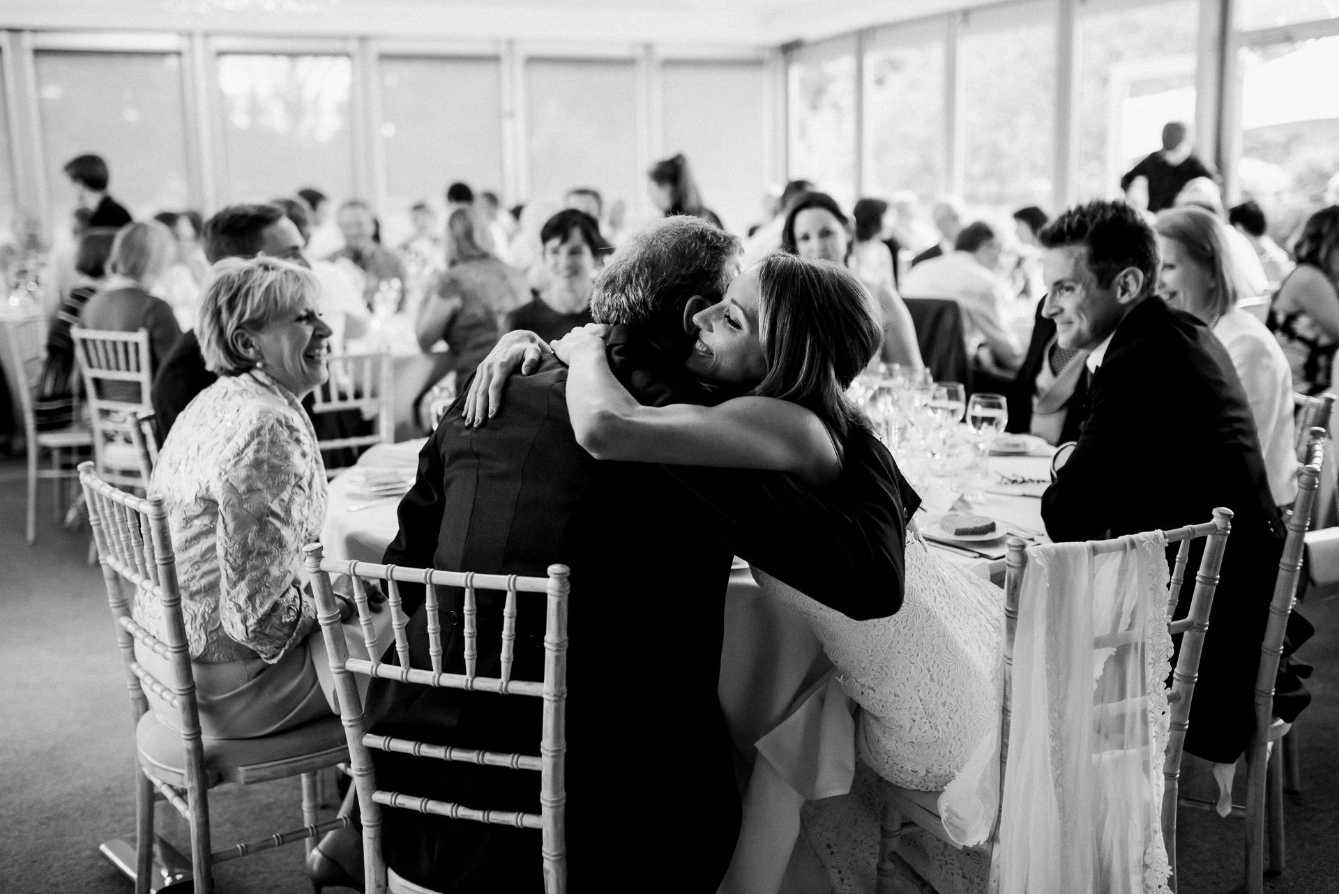 Hugs Sudeley castle wedding