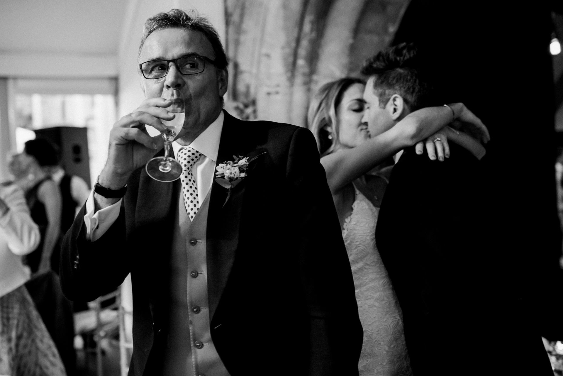 Secret kiss Sudeley castle wedding