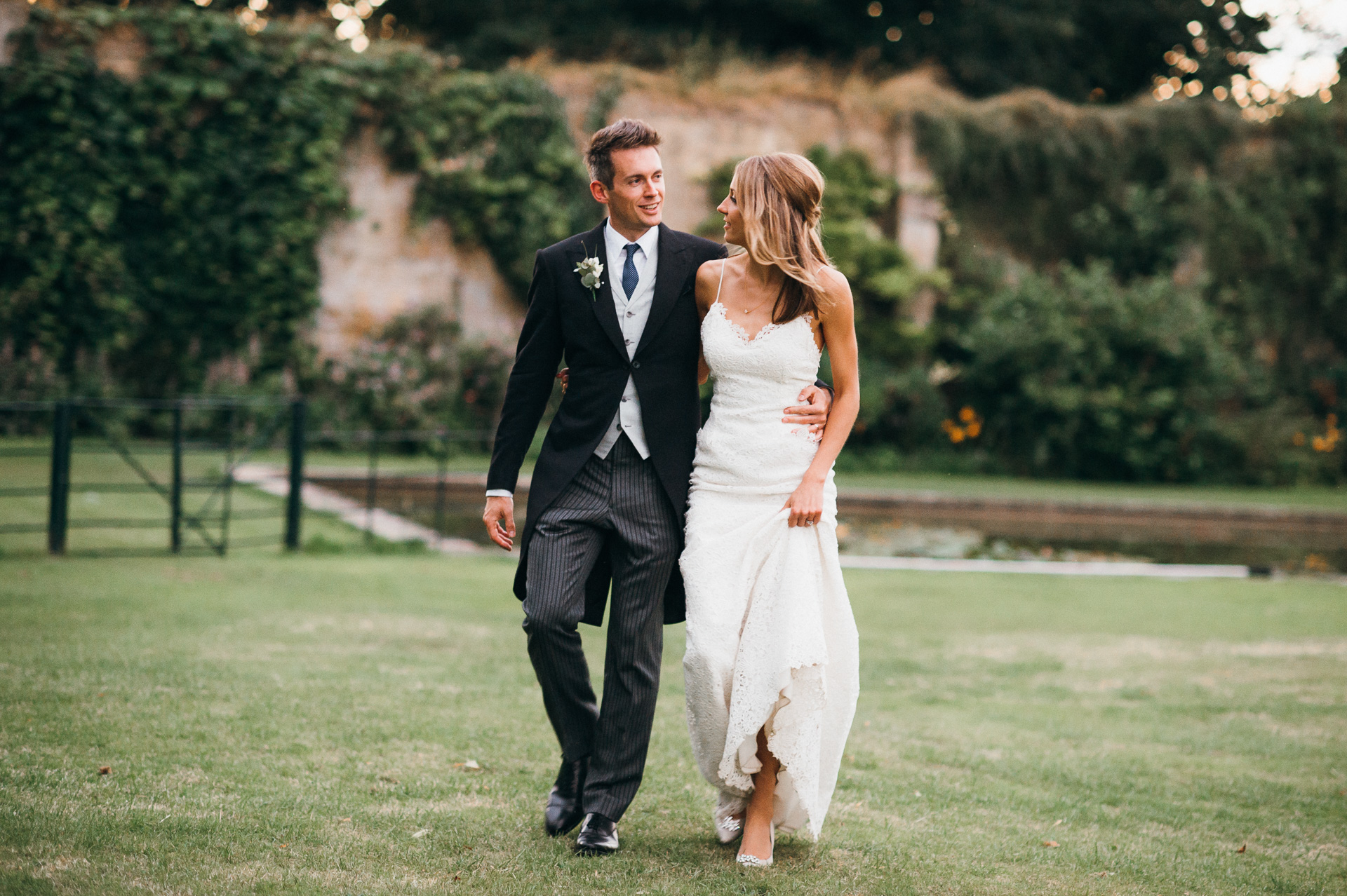 Bride and Groom at Sudeley castle