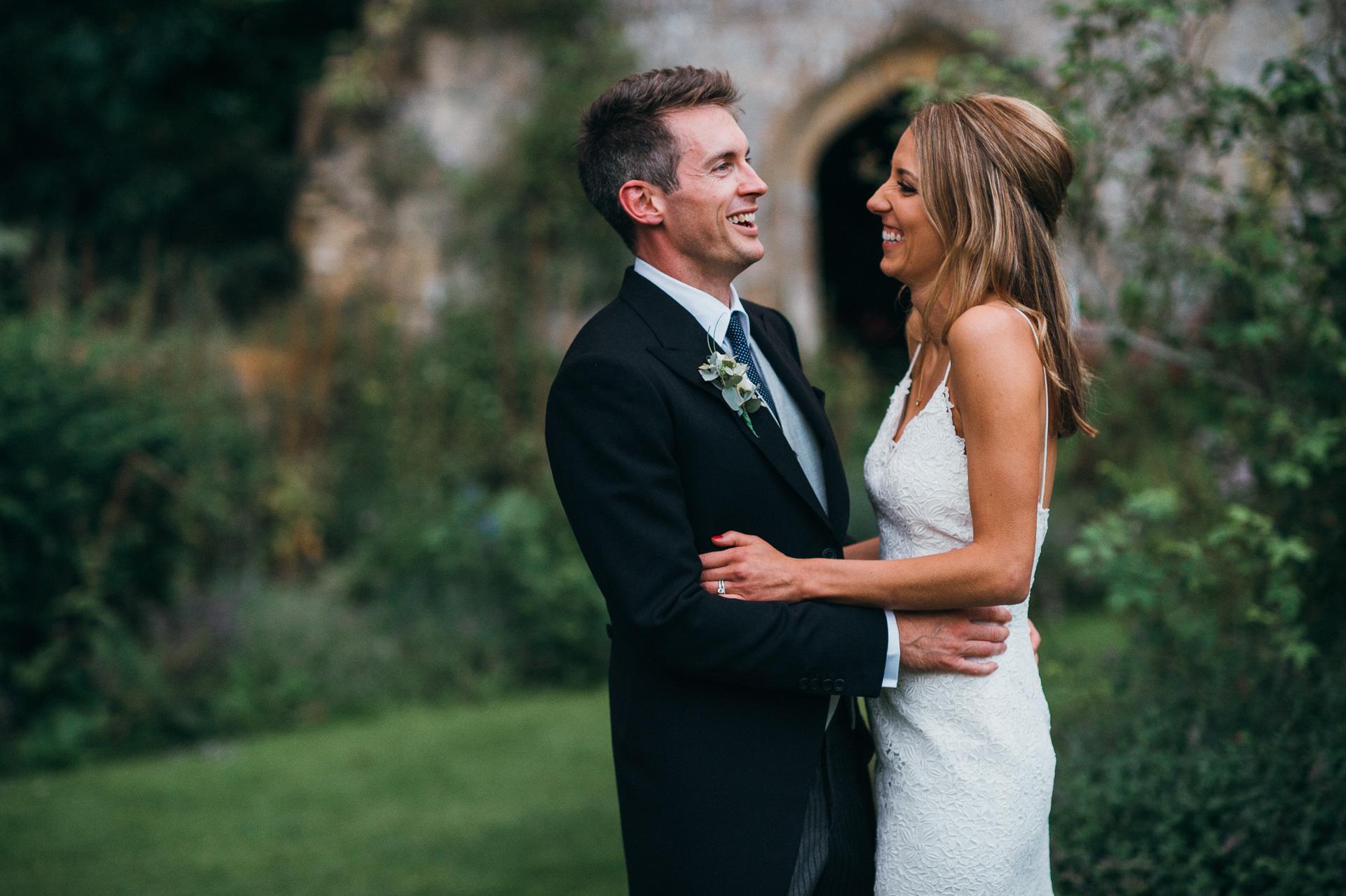 newlyweds Sudeley castle wedding photography