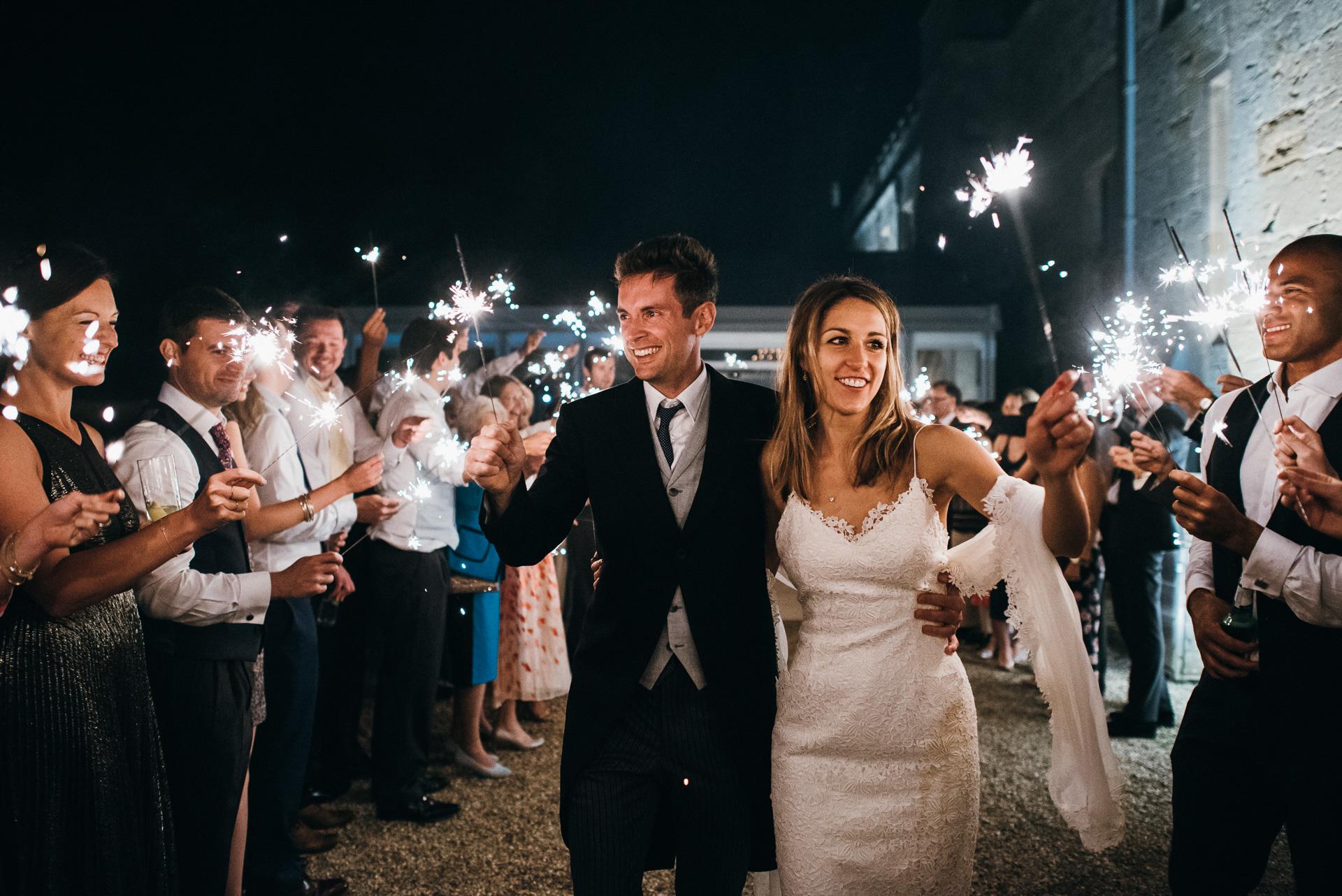 Sudeley castle wedding sparklers